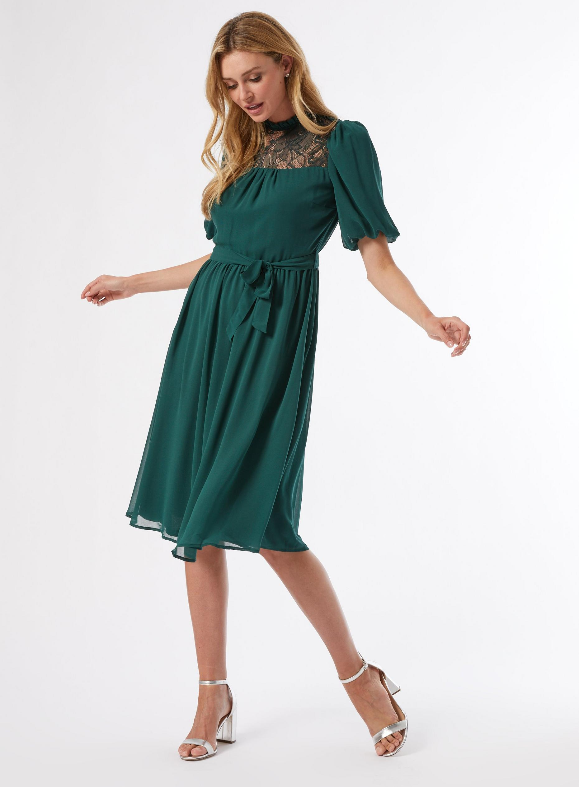 Billie Green Lace Yoke Dress