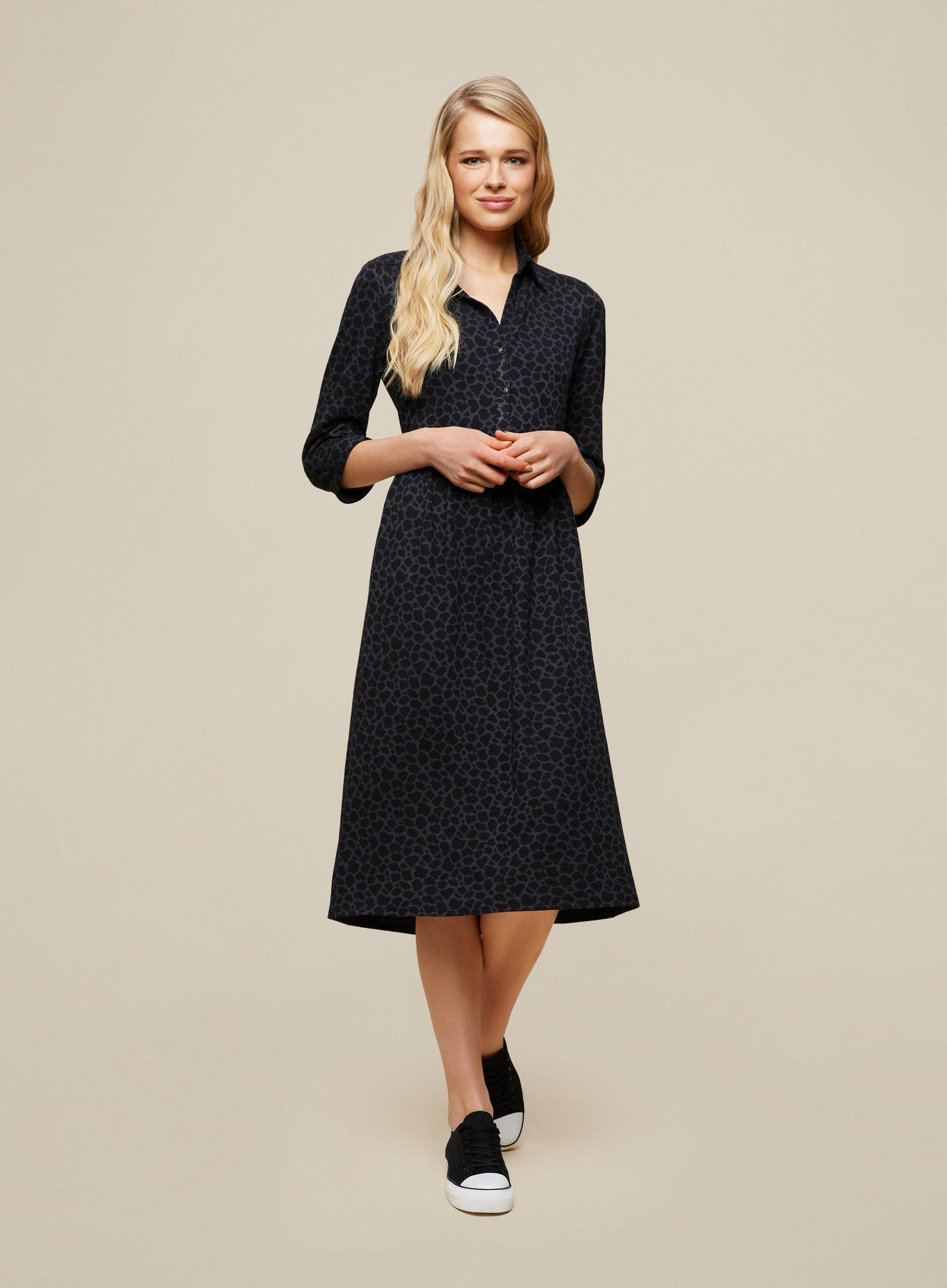 Animal Midi Shirt Dress