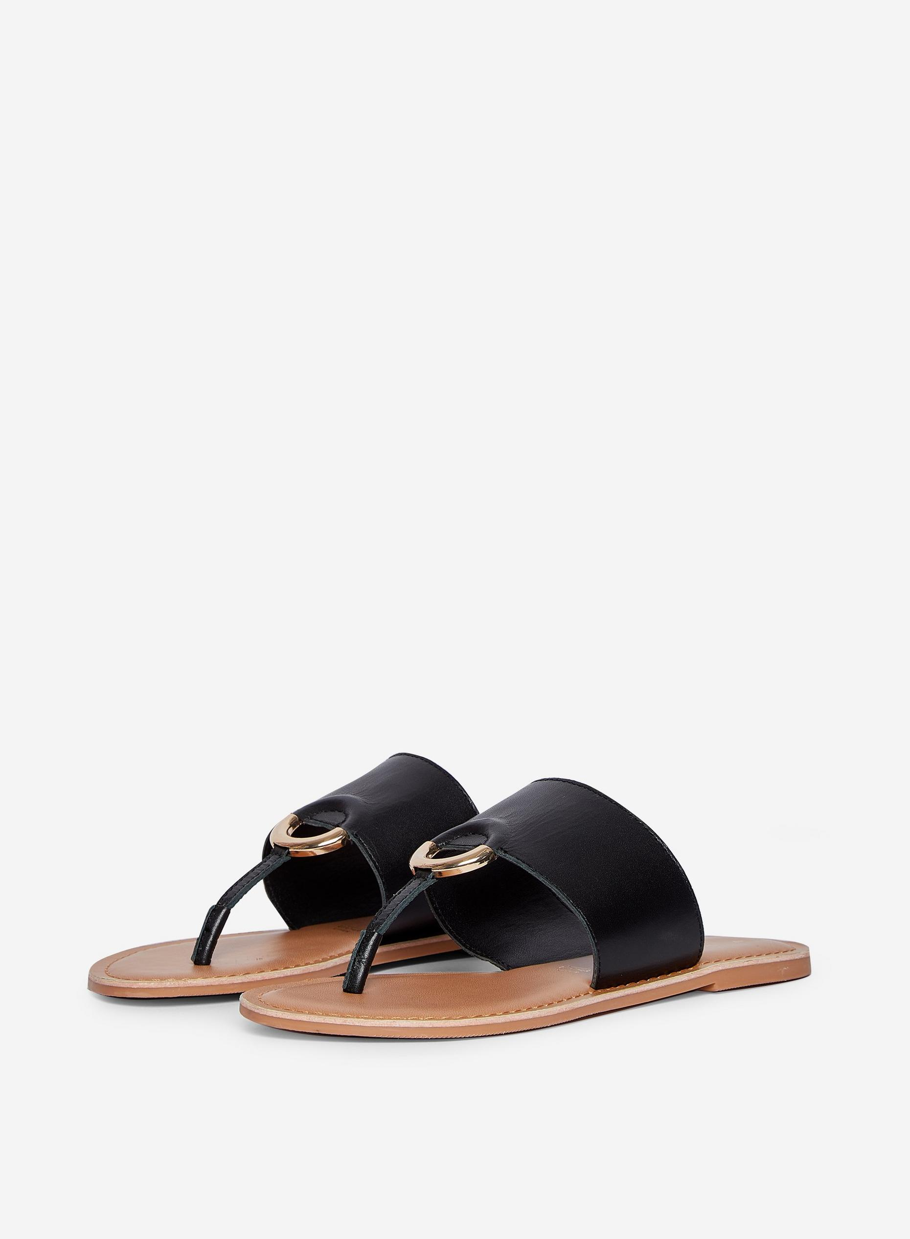 Black Jenner Leather Sandals