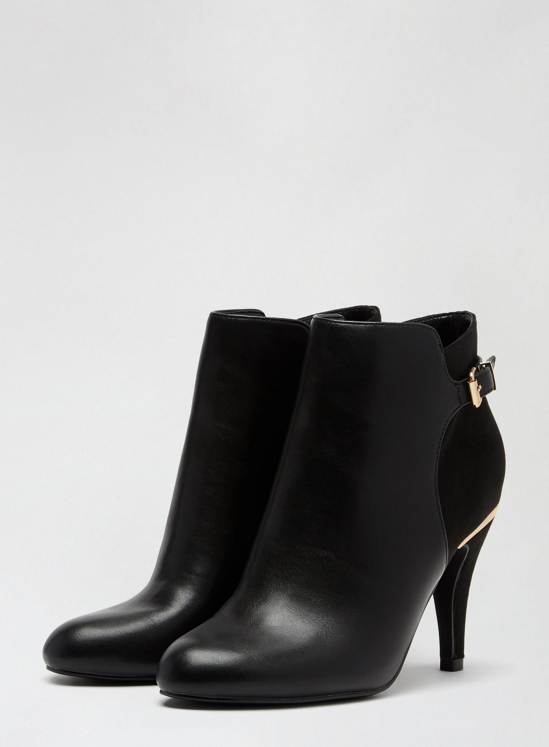 Wide Fit Black Alison Buckle Boots