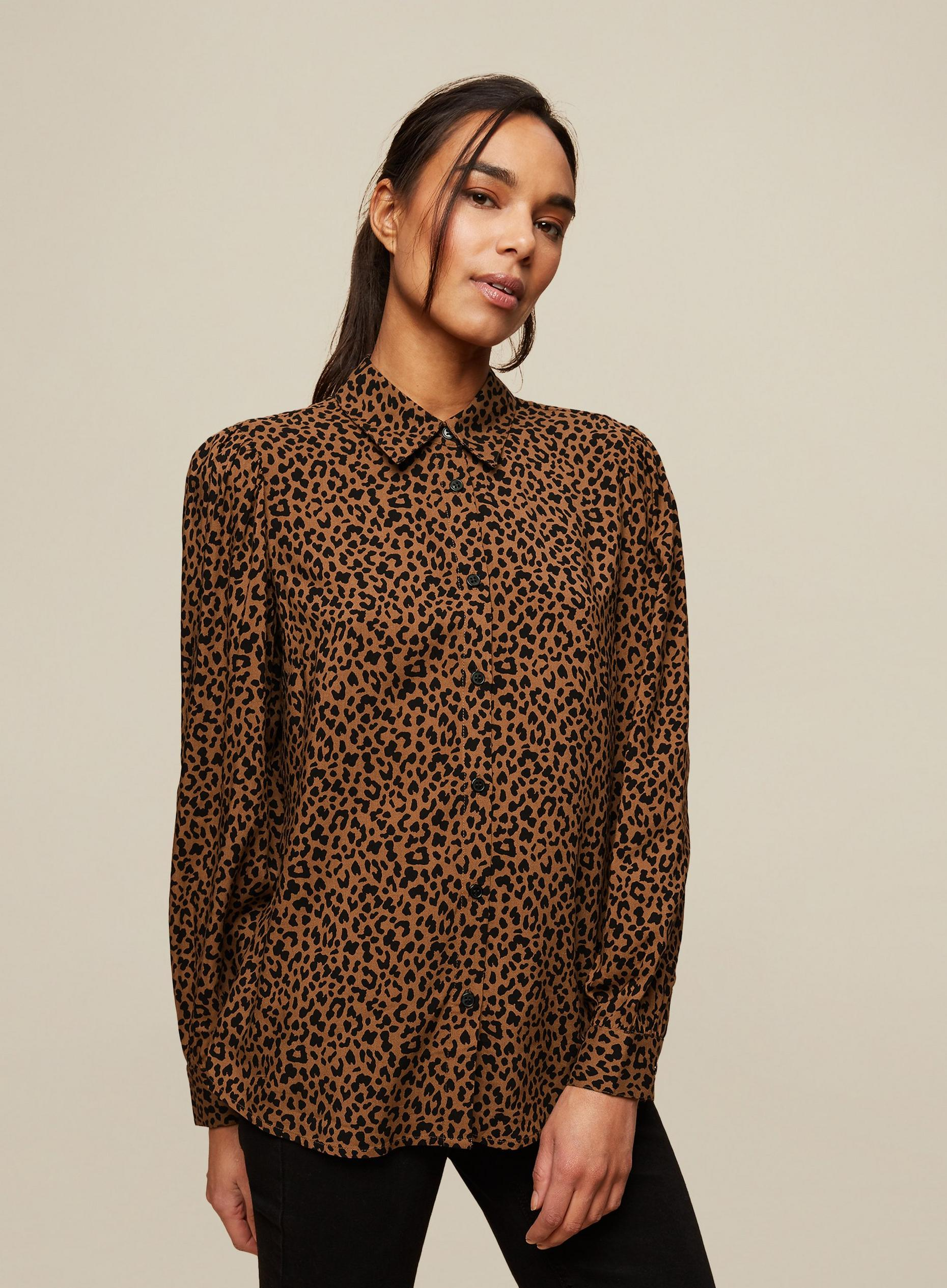 Multi Colour Leopard Print Shirt