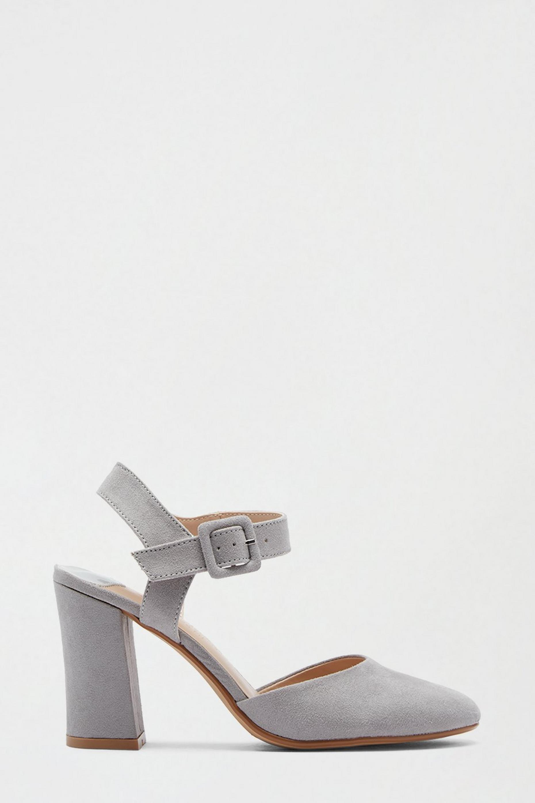 Wide Fit Grey Date Court Shoe