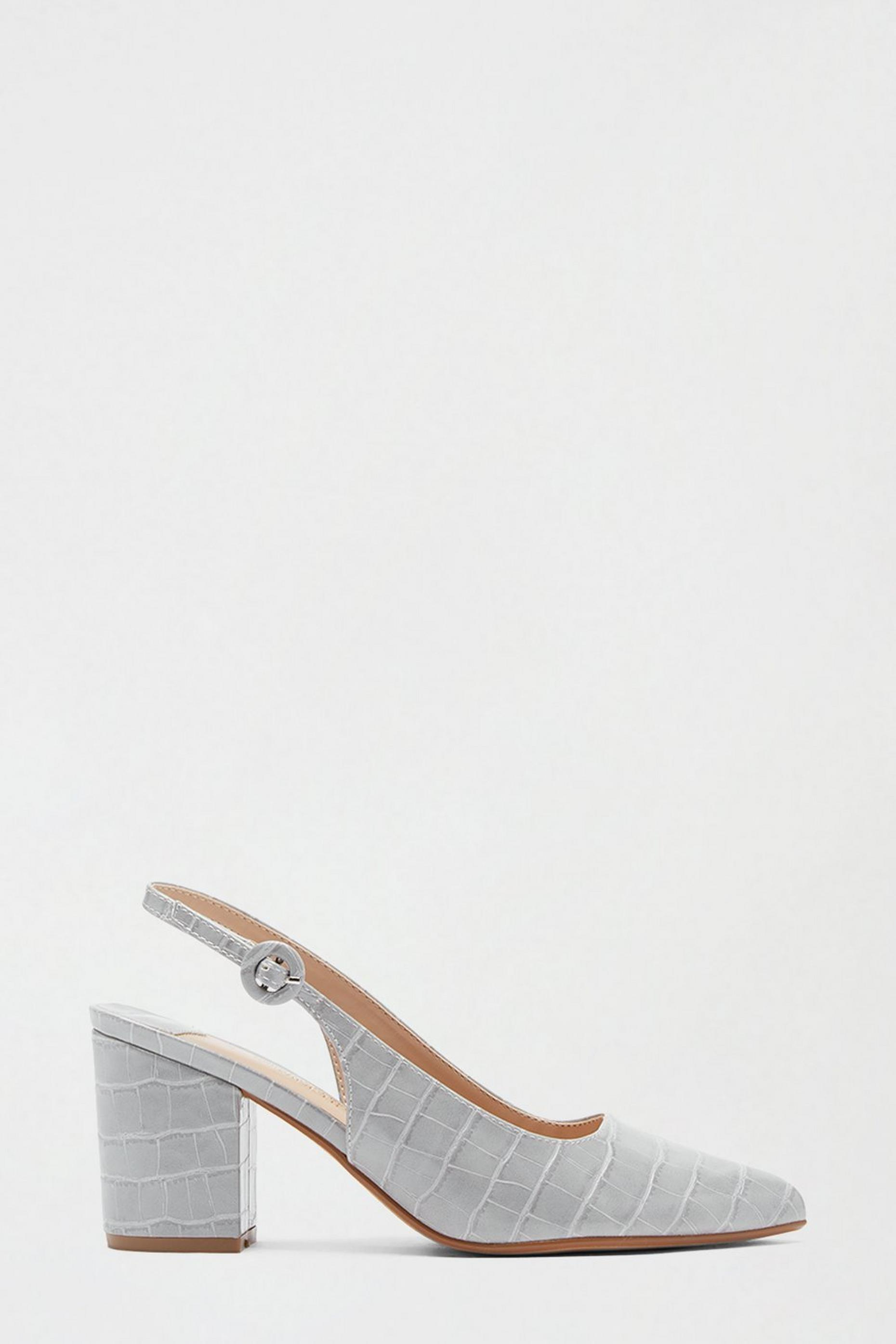 Wide Fit Grey Evie Pointed Toe Court