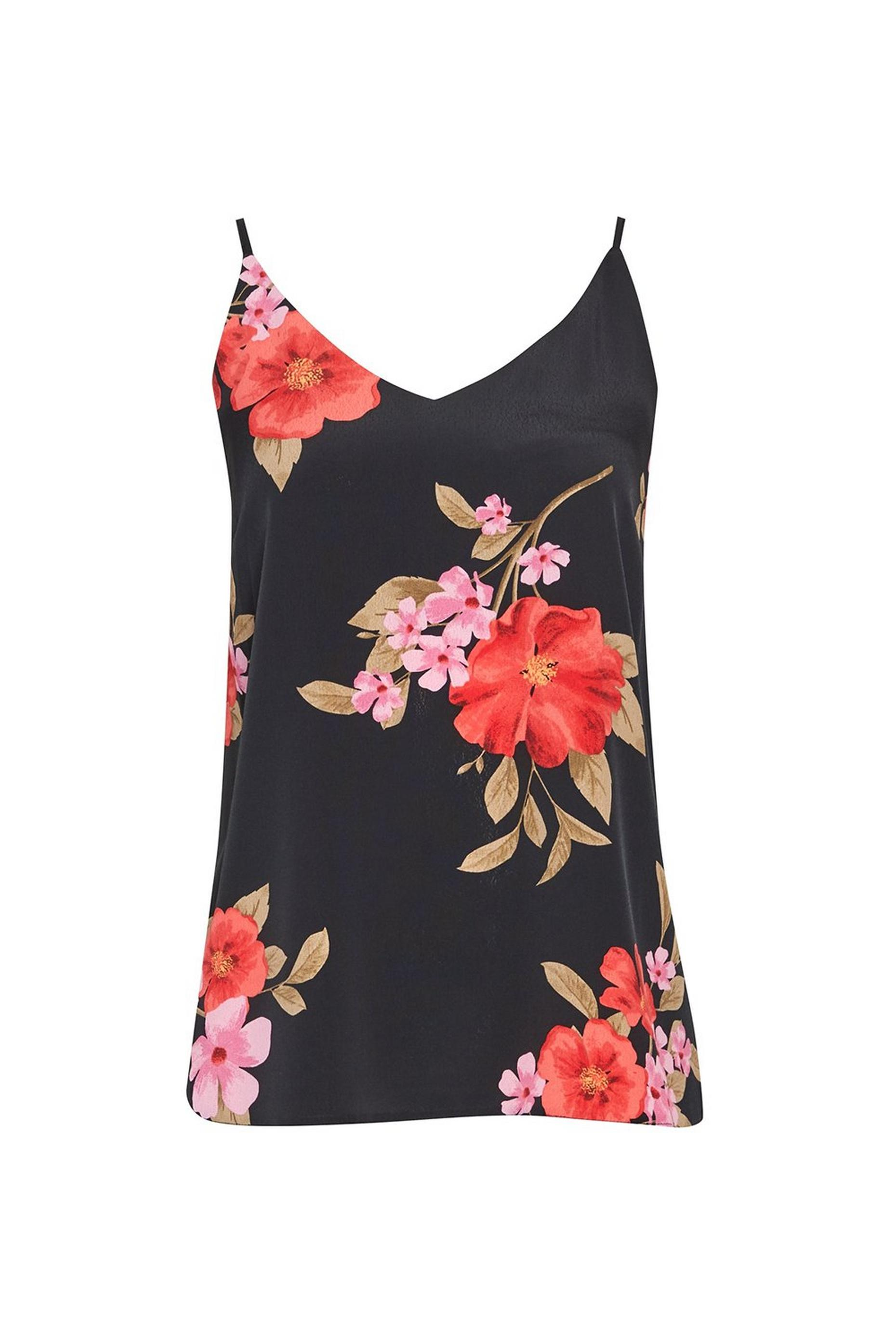 Multi Colour Floral Print Camisole Top