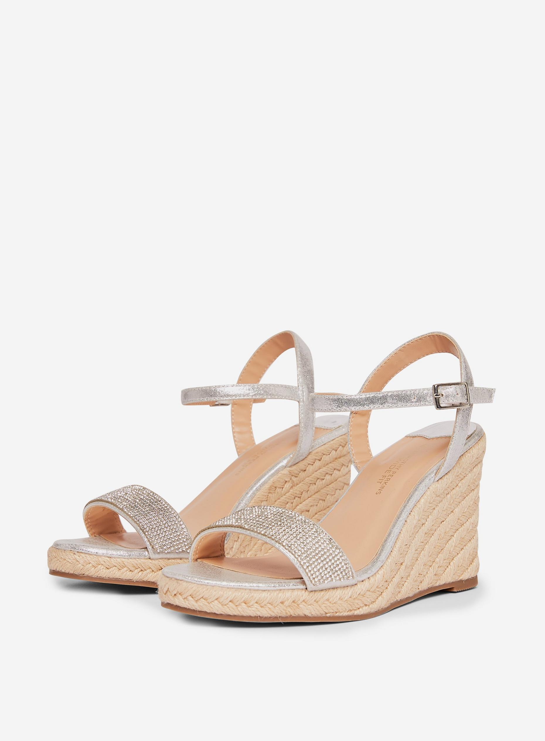 Grey Raa-Raa Wedge Sandals