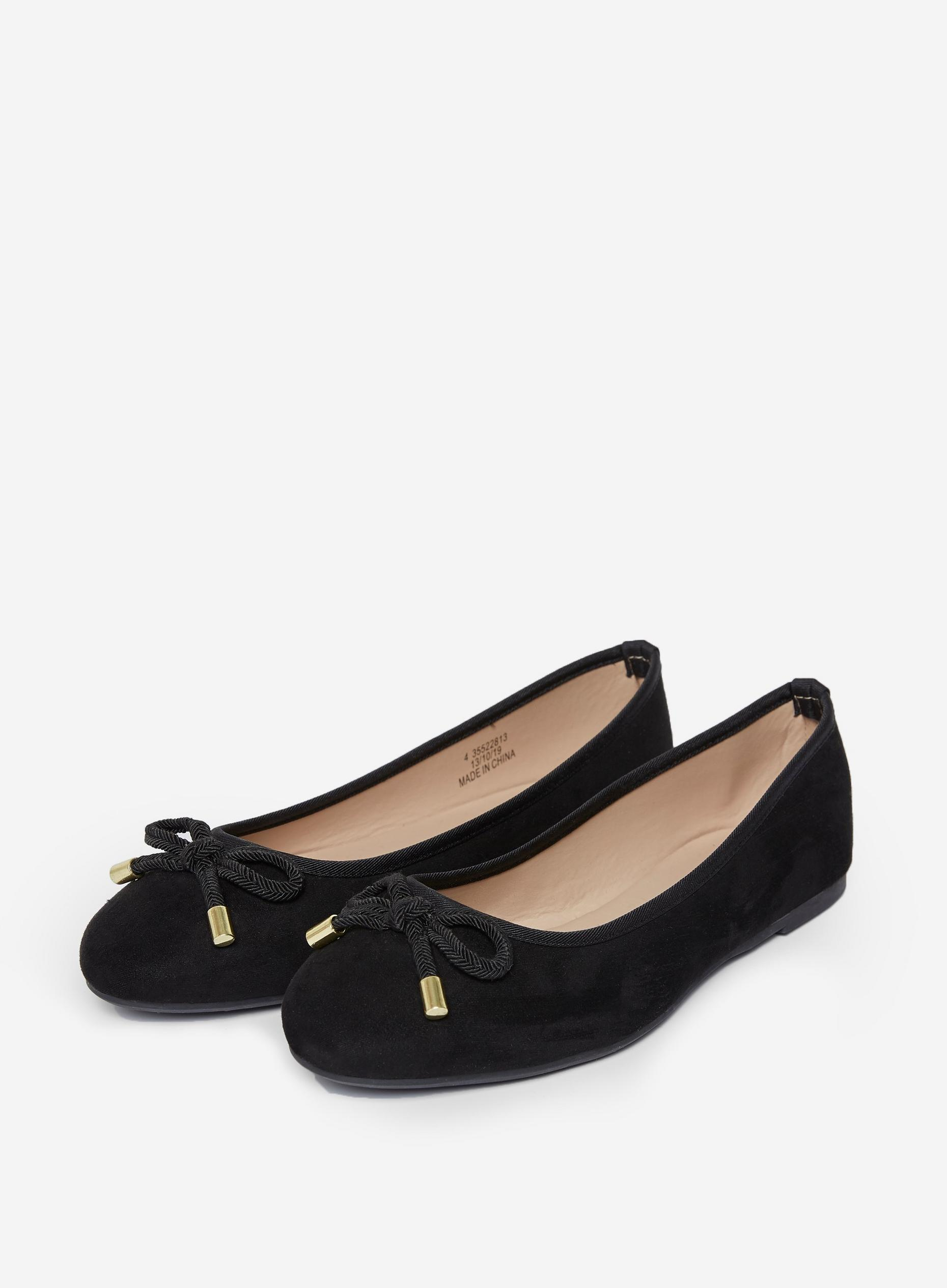 Black Peach Ballerina Pumps