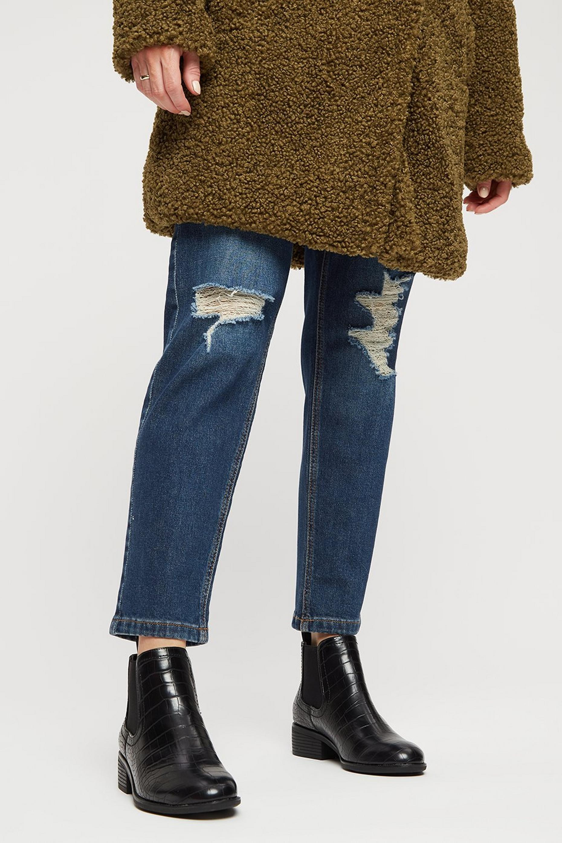 Black Croc Maple Chelsea Boot
