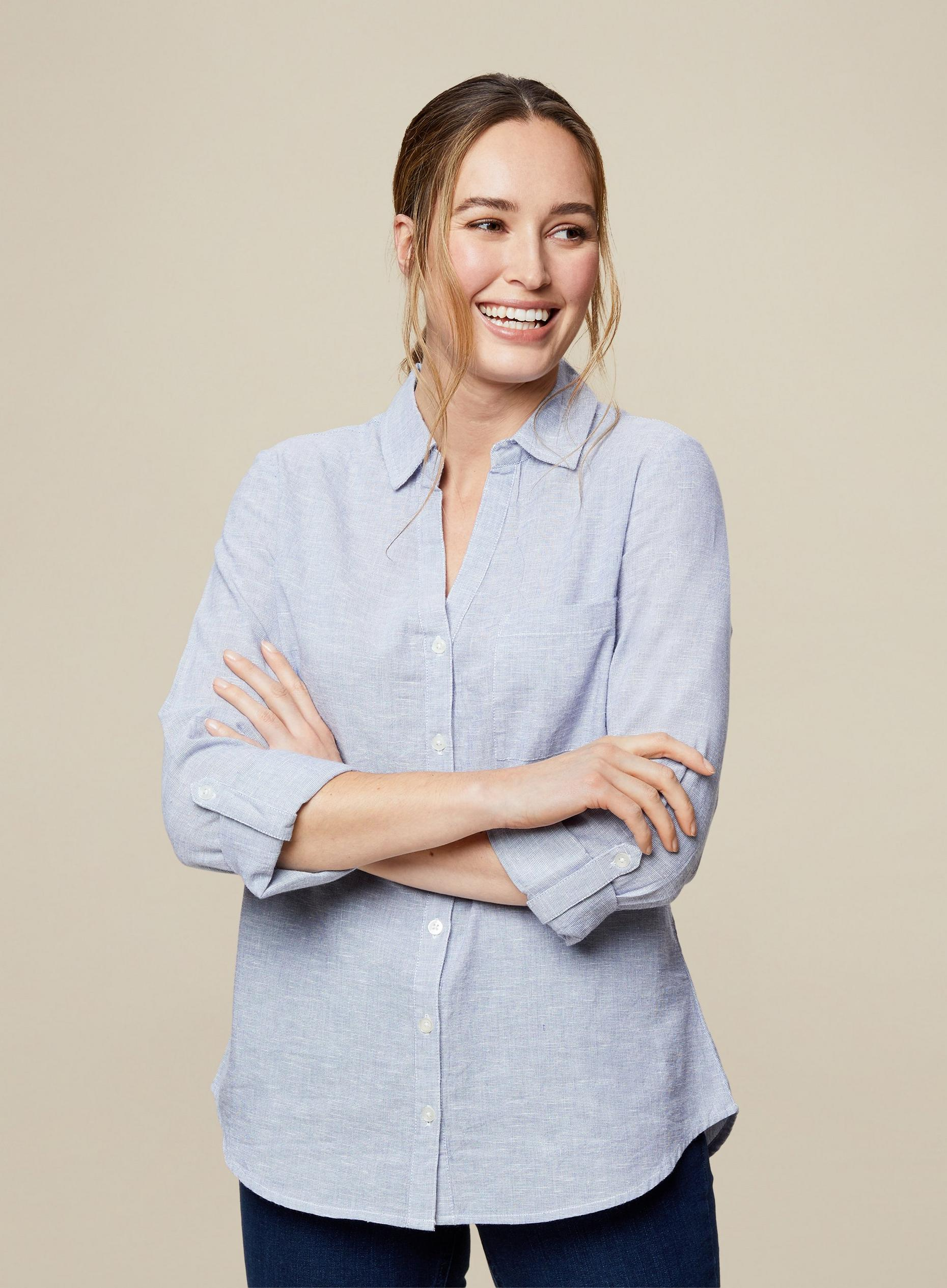 Chambray Blue Linen Shirt