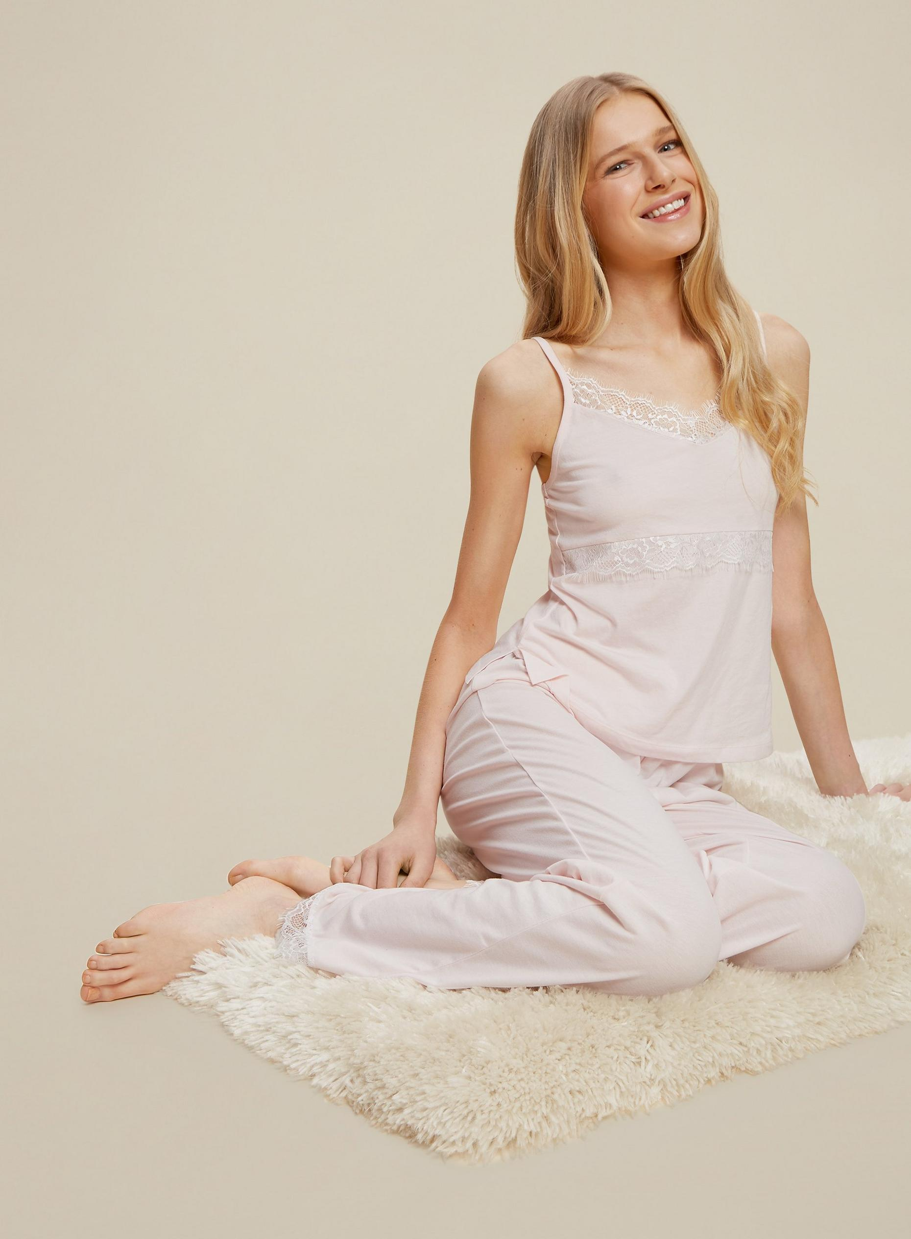 Blush Jersey Lounge Trousers