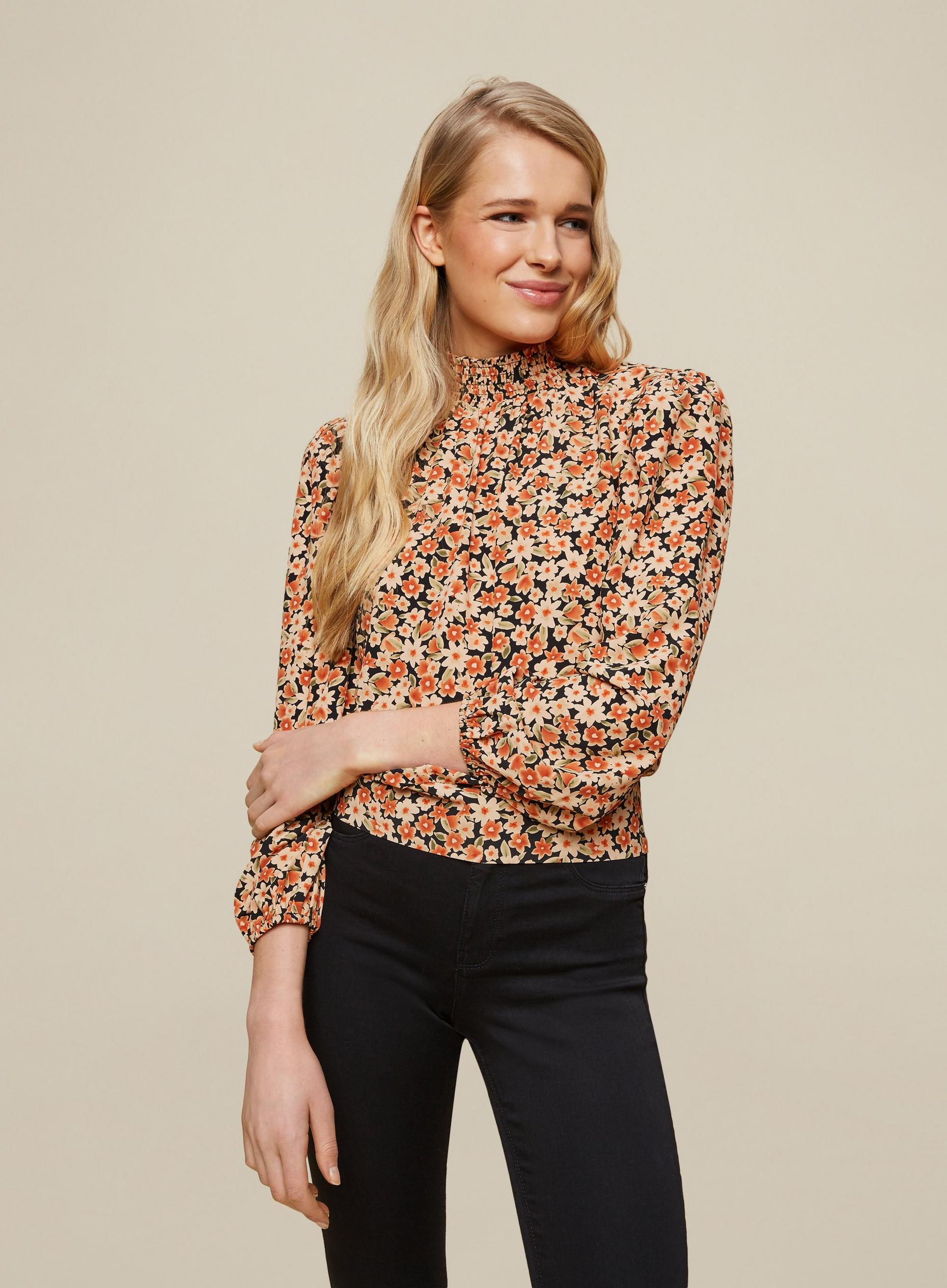 Multi Colour Ditsy Print Blouse