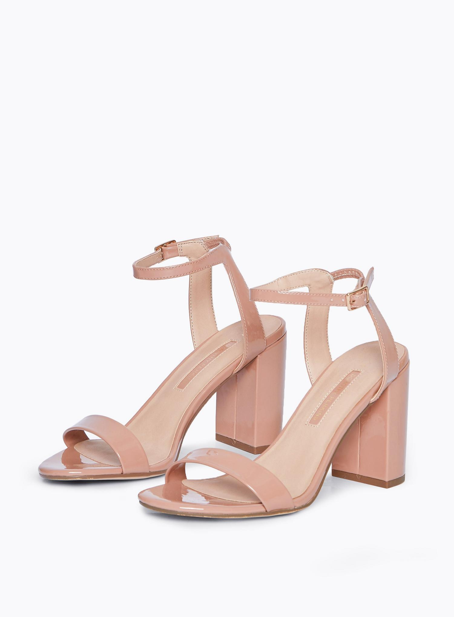 153 Blush Shimmer Two Part Heeled Sandals image number 1
