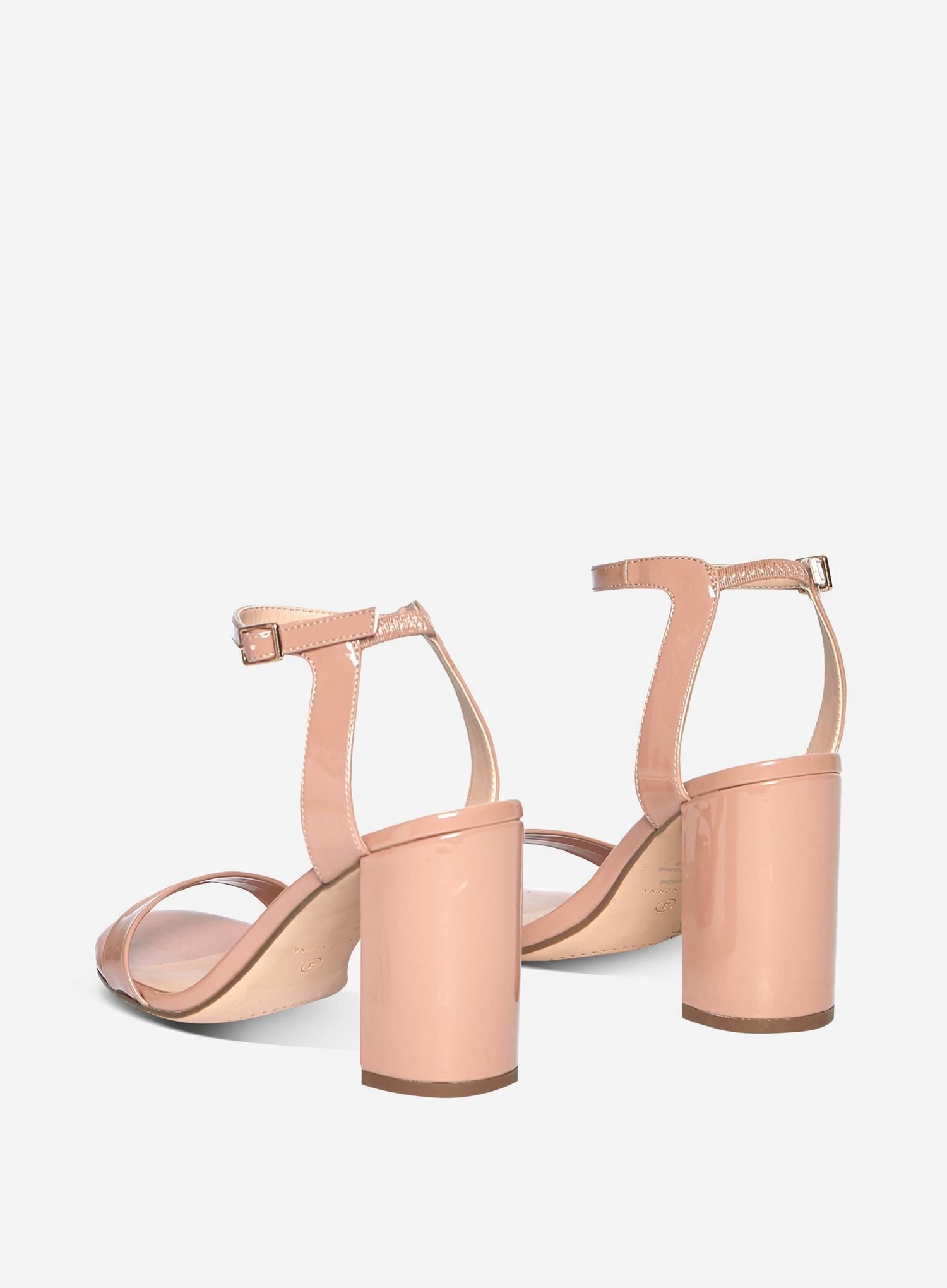 153 Blush Shimmer Two Part Heeled Sandals image number 2
