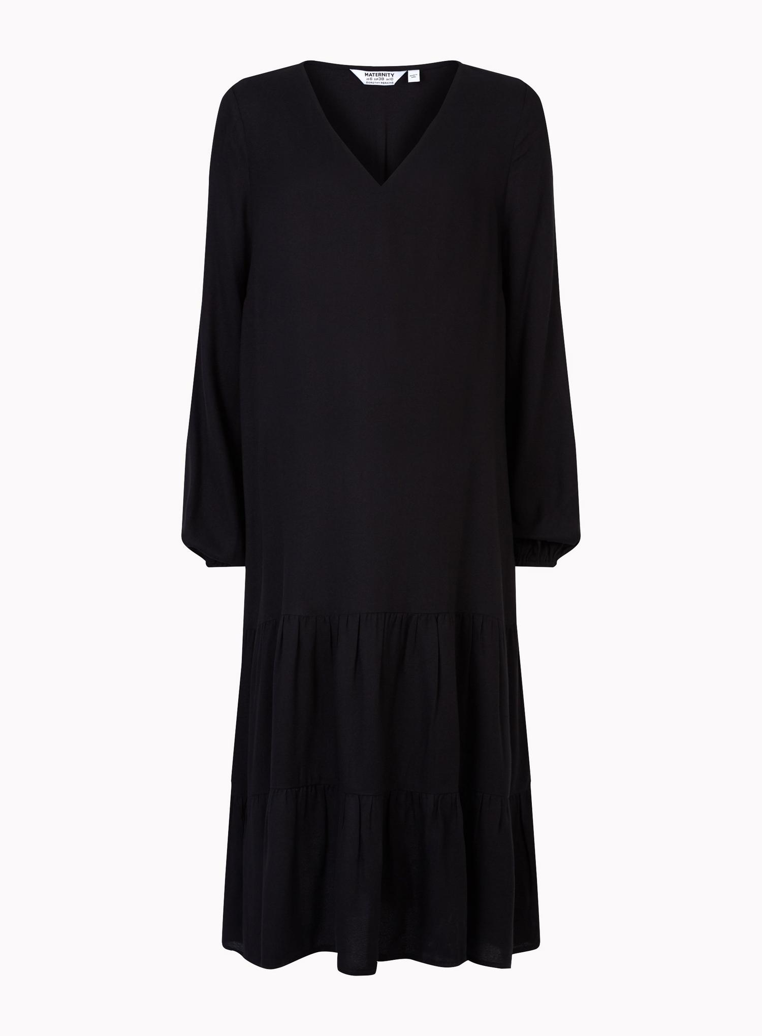 105 Maternity Black Smock Dress image number 2
