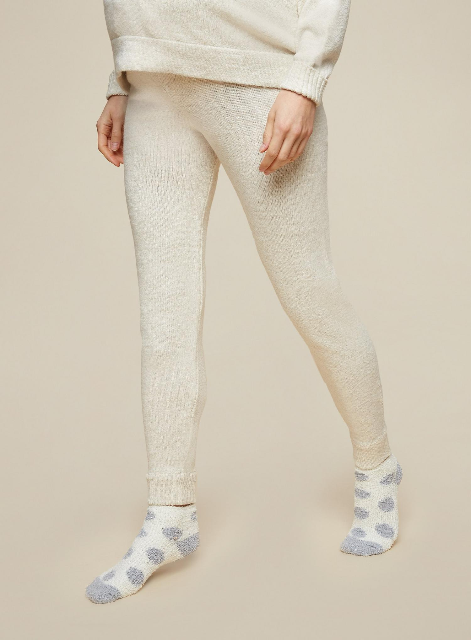 103 Maternity Beige Lounge Knitted Joggers image number 1