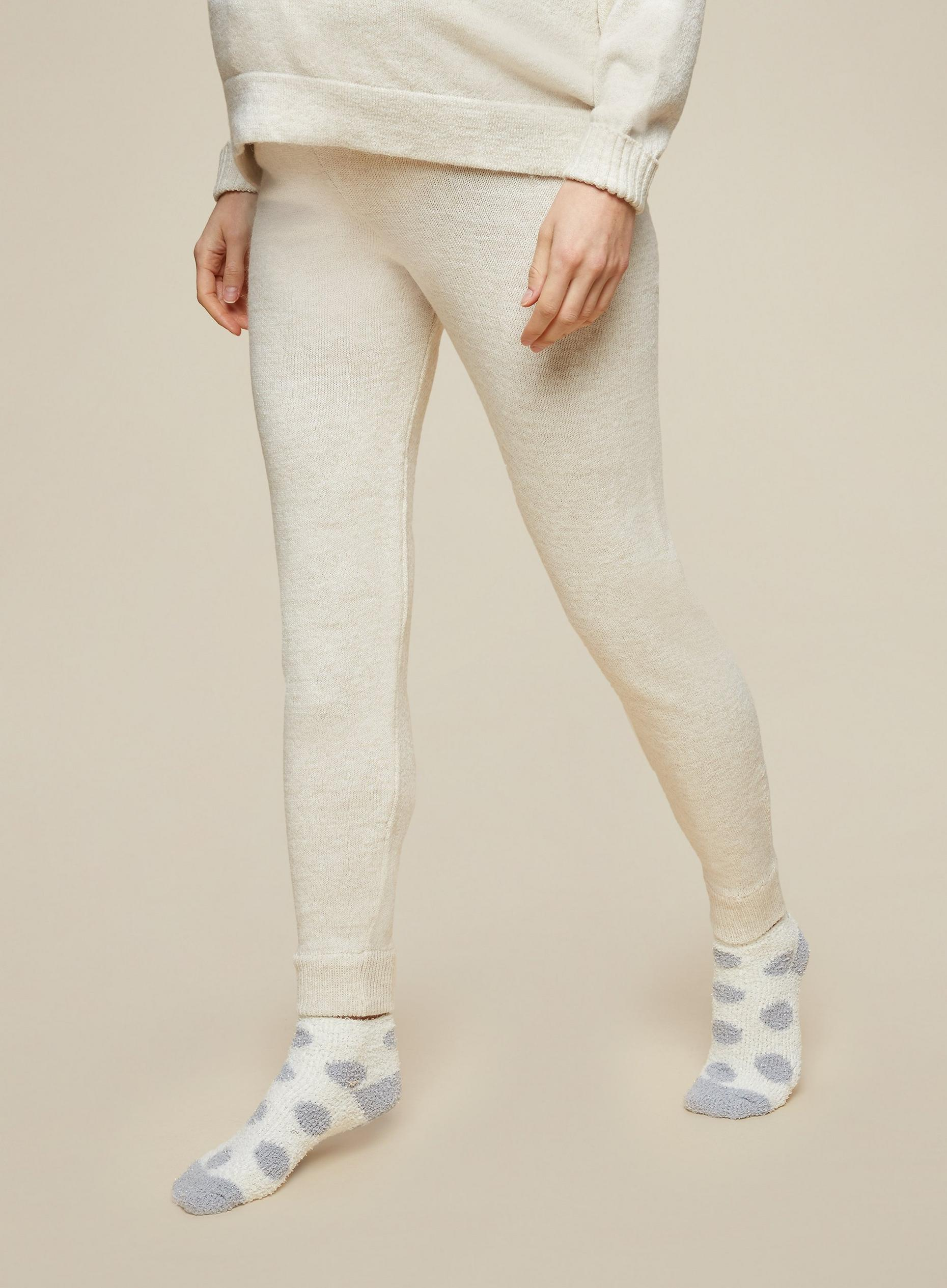 Maternity Beige Lounge Knitted Joggers