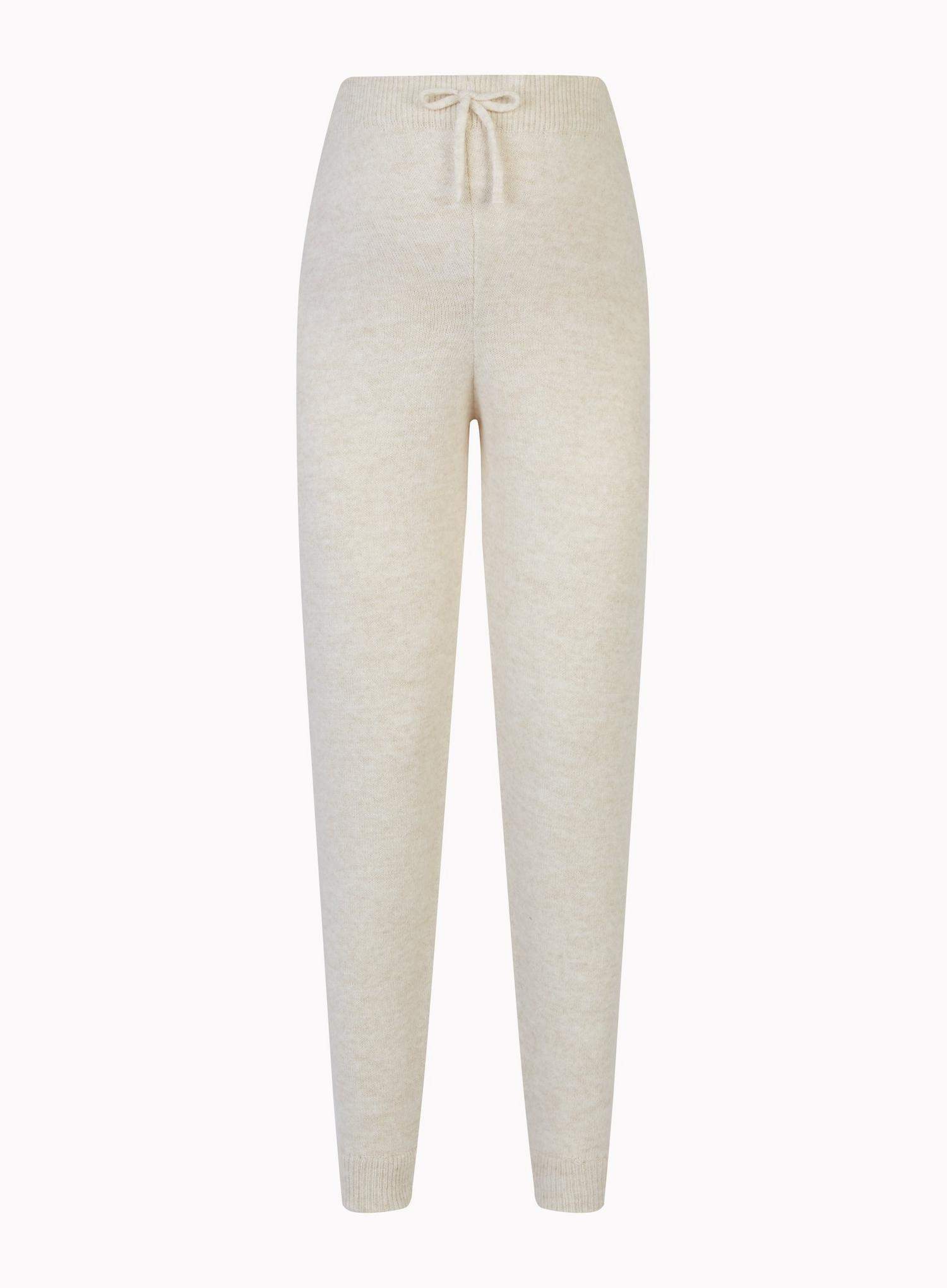 103 Maternity Beige Lounge Knitted Joggers image number 2