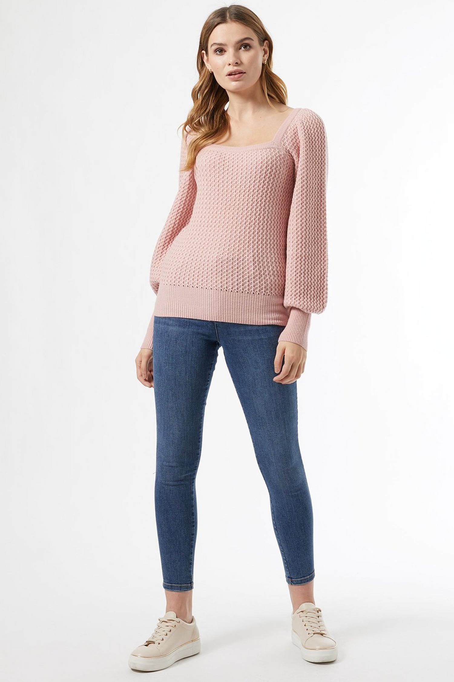 153 Blush Square Neck Jumper image number 3