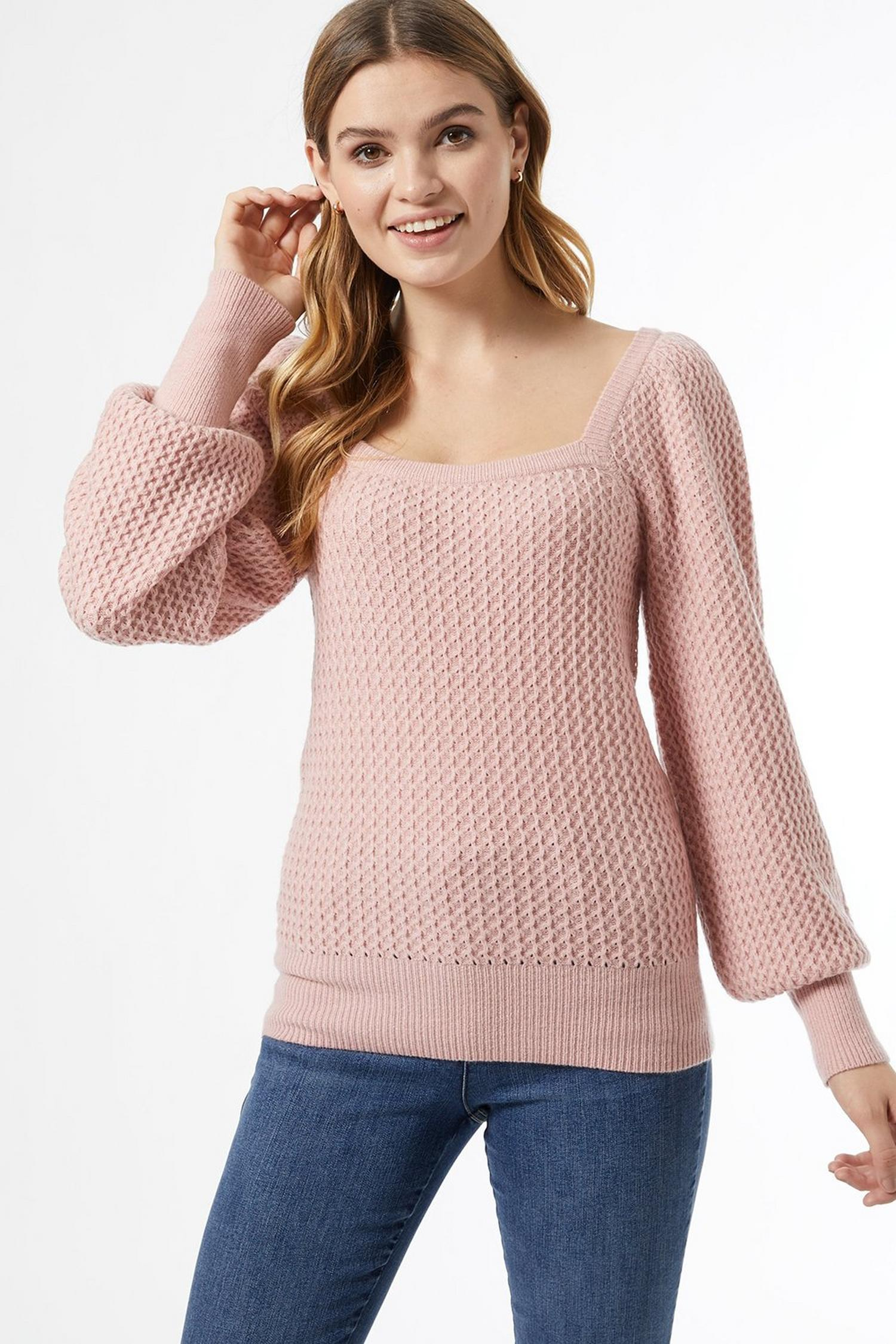 153 Blush Square Neck Jumper image number 4