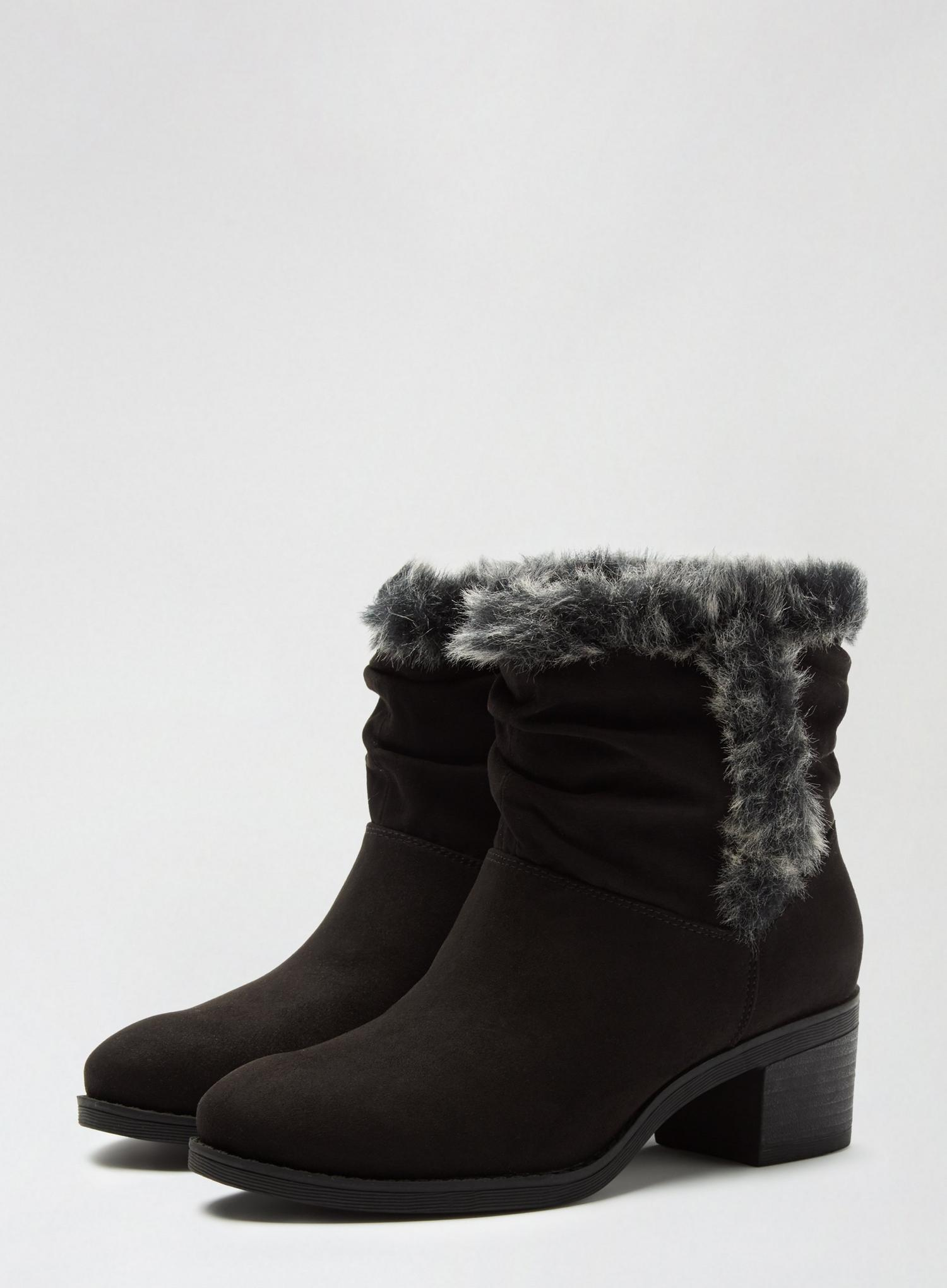 105 Black Madrid Rouched Boots image number 1