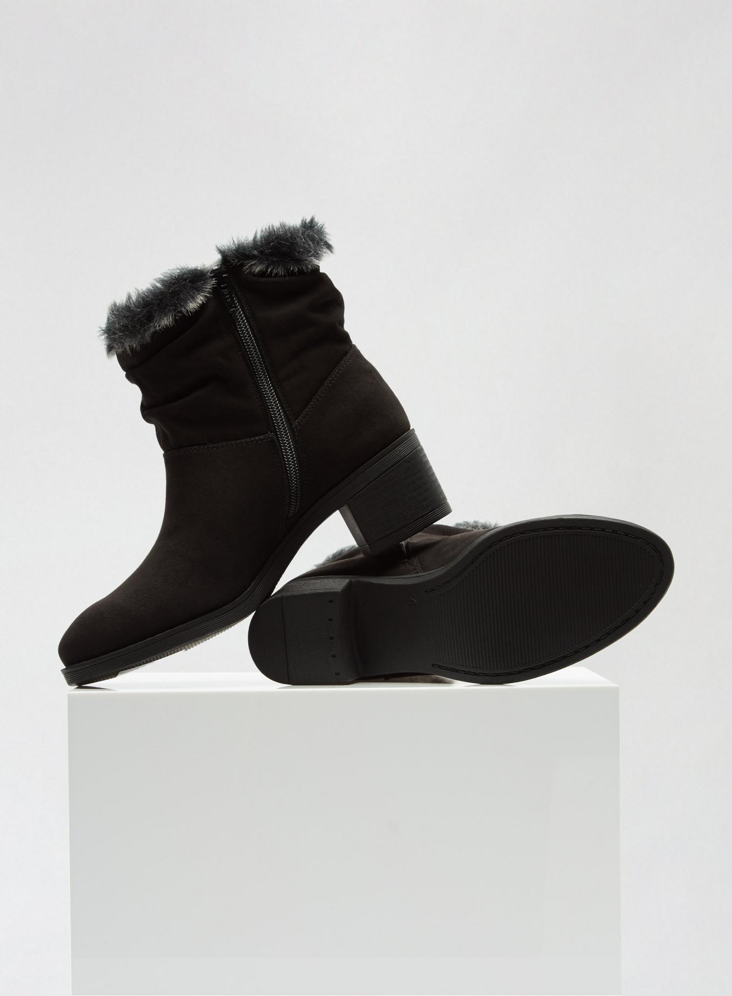 105 Black Madrid Rouched Boots image number 4