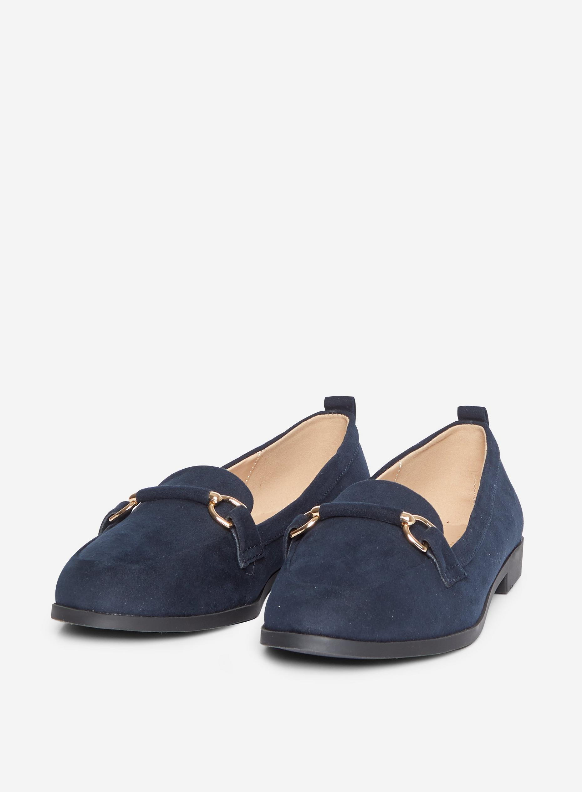 Wide Fit Navy Loon Loafers
