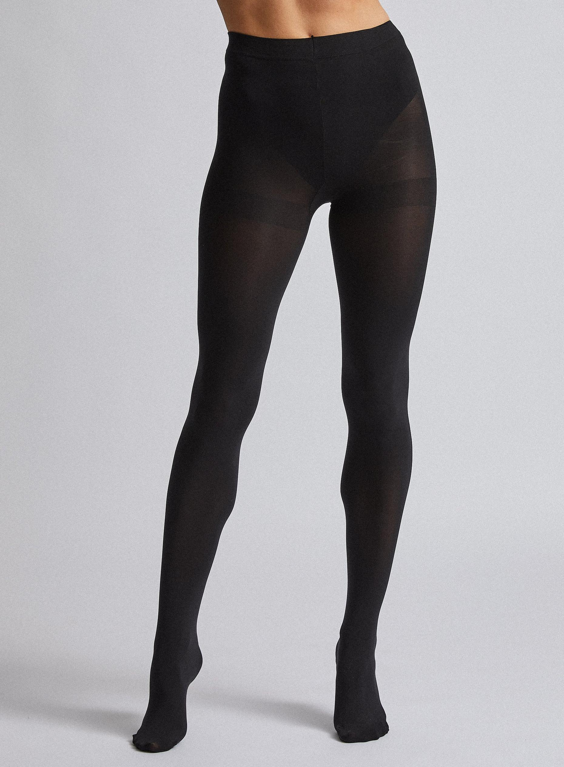 Black 100 Denier Two Pack Tights