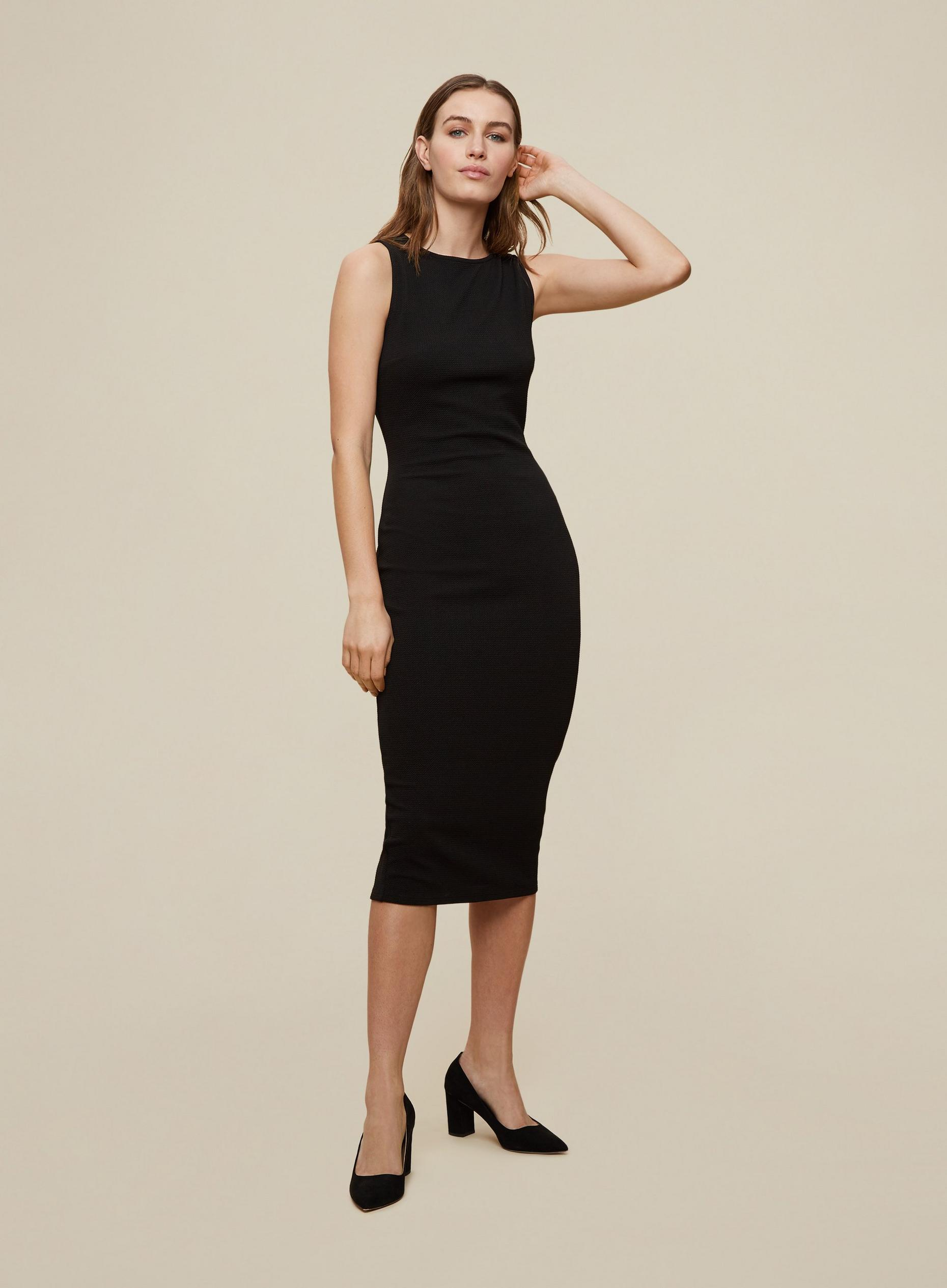 Black Sleeveless Bodycon Dress