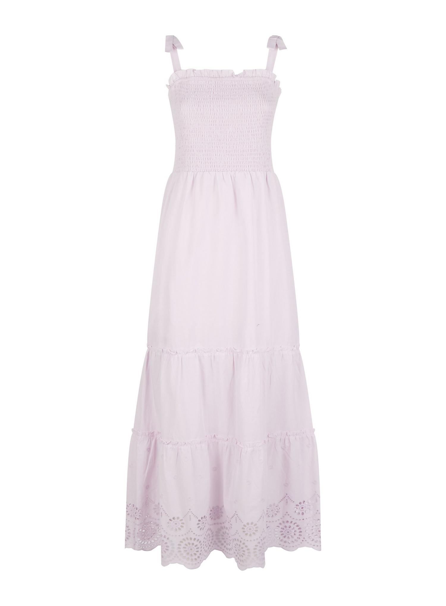156 Lilac Broderie Camisole Dress image number 2