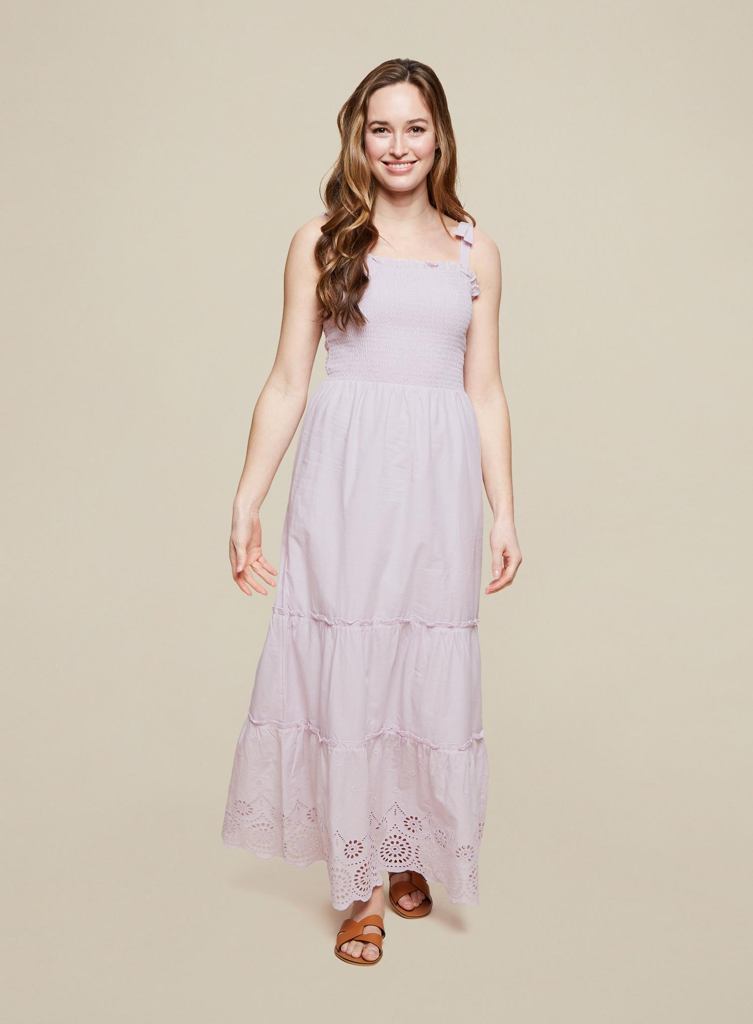156 Lilac Broderie Camisole Dress image number 3