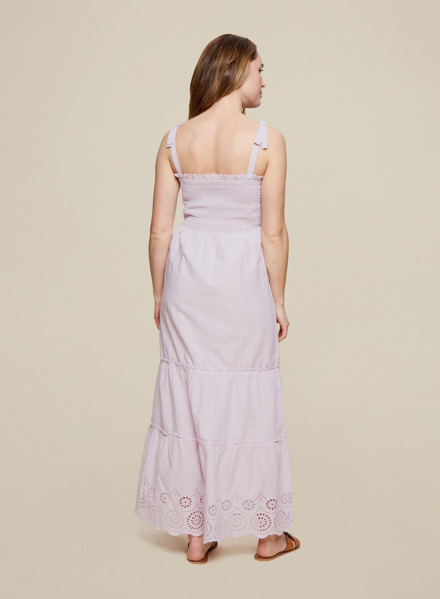 156 Lilac Broderie Camisole Dress image number 4
