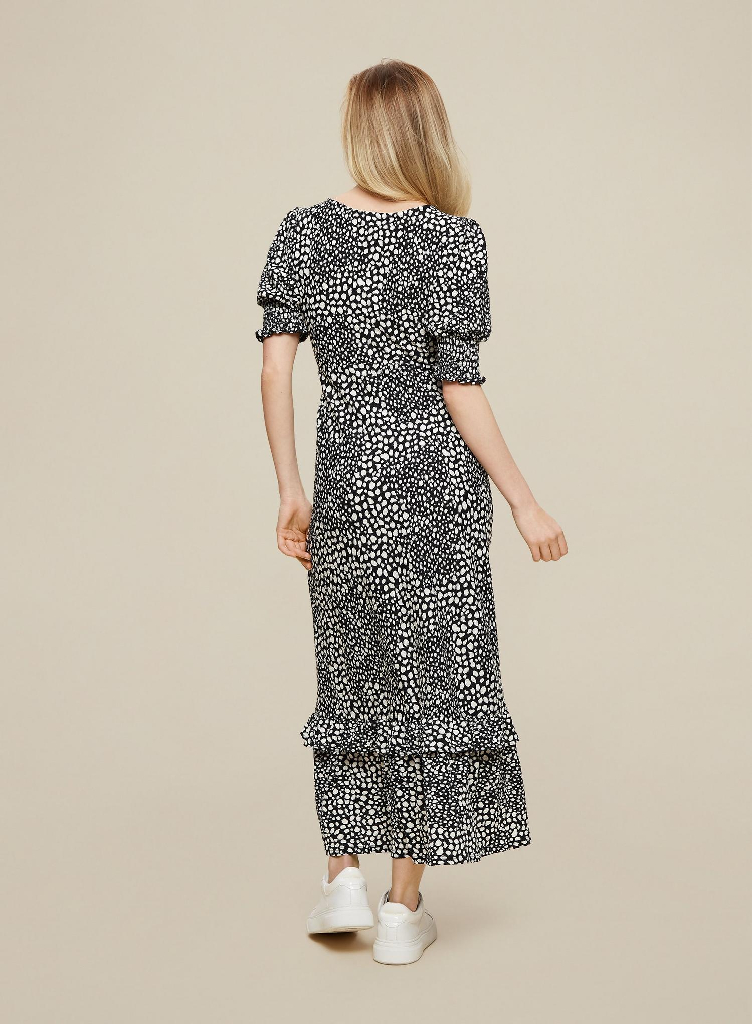 123 Neutral Leopard Print Midi Wrap Dress image number 2