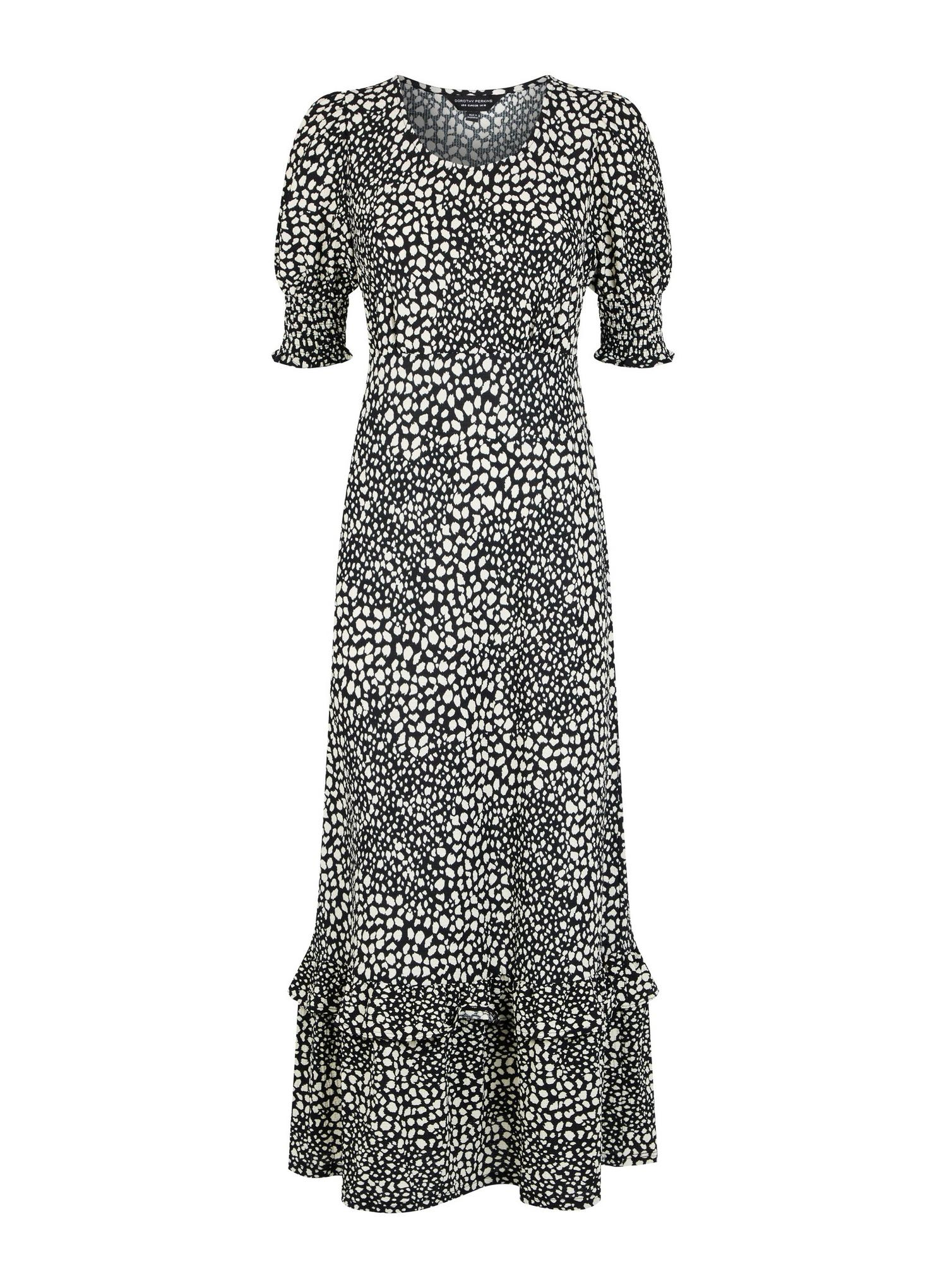 123 Neutral Leopard Print Midi Wrap Dress image number 4