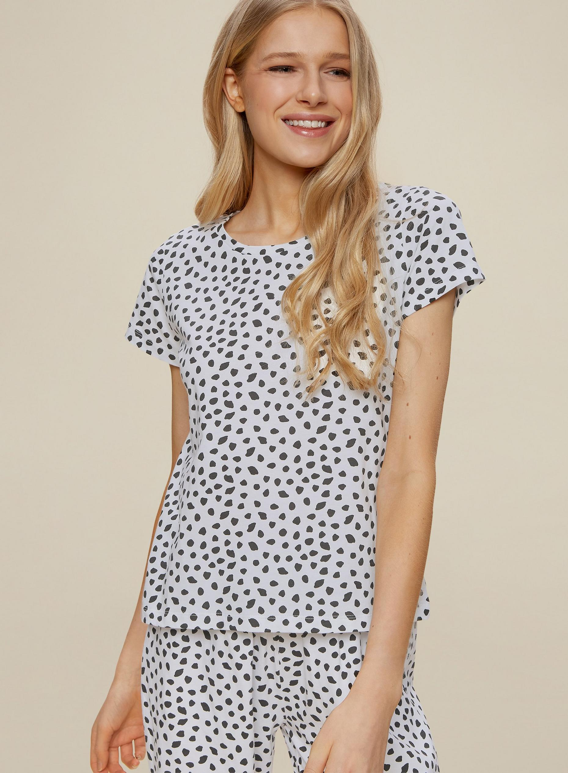 Monochrome Spot Print Long Leg Set