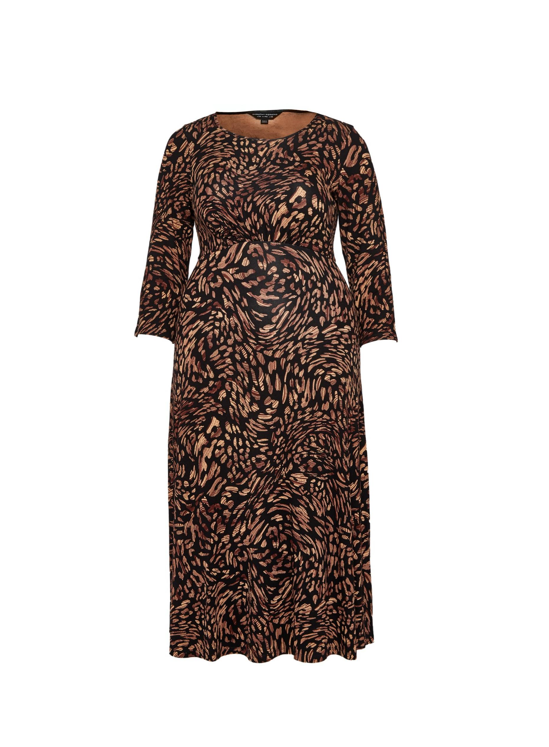 Curve  Printed Midi Dress