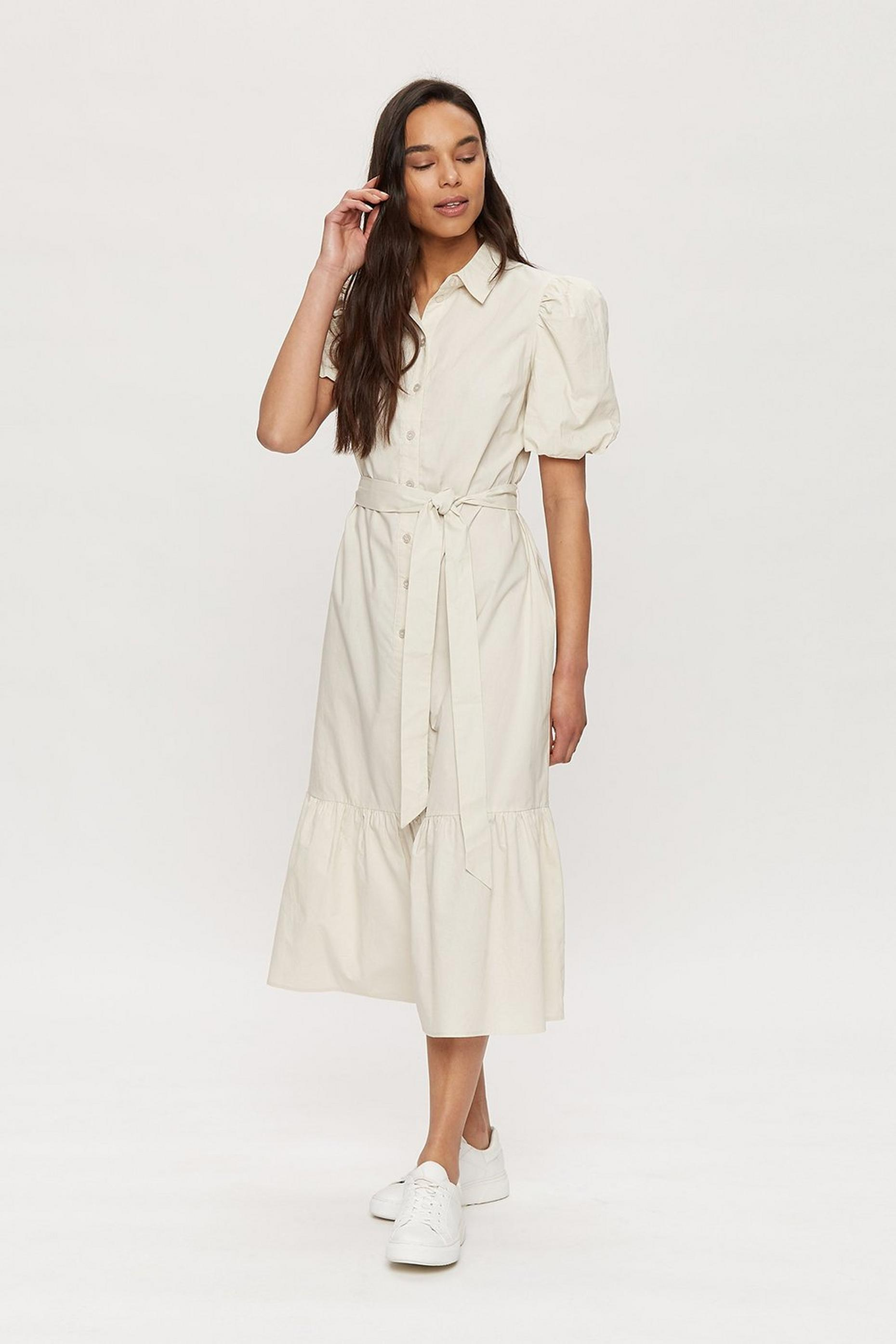 Stone Cotton Shirt Dress