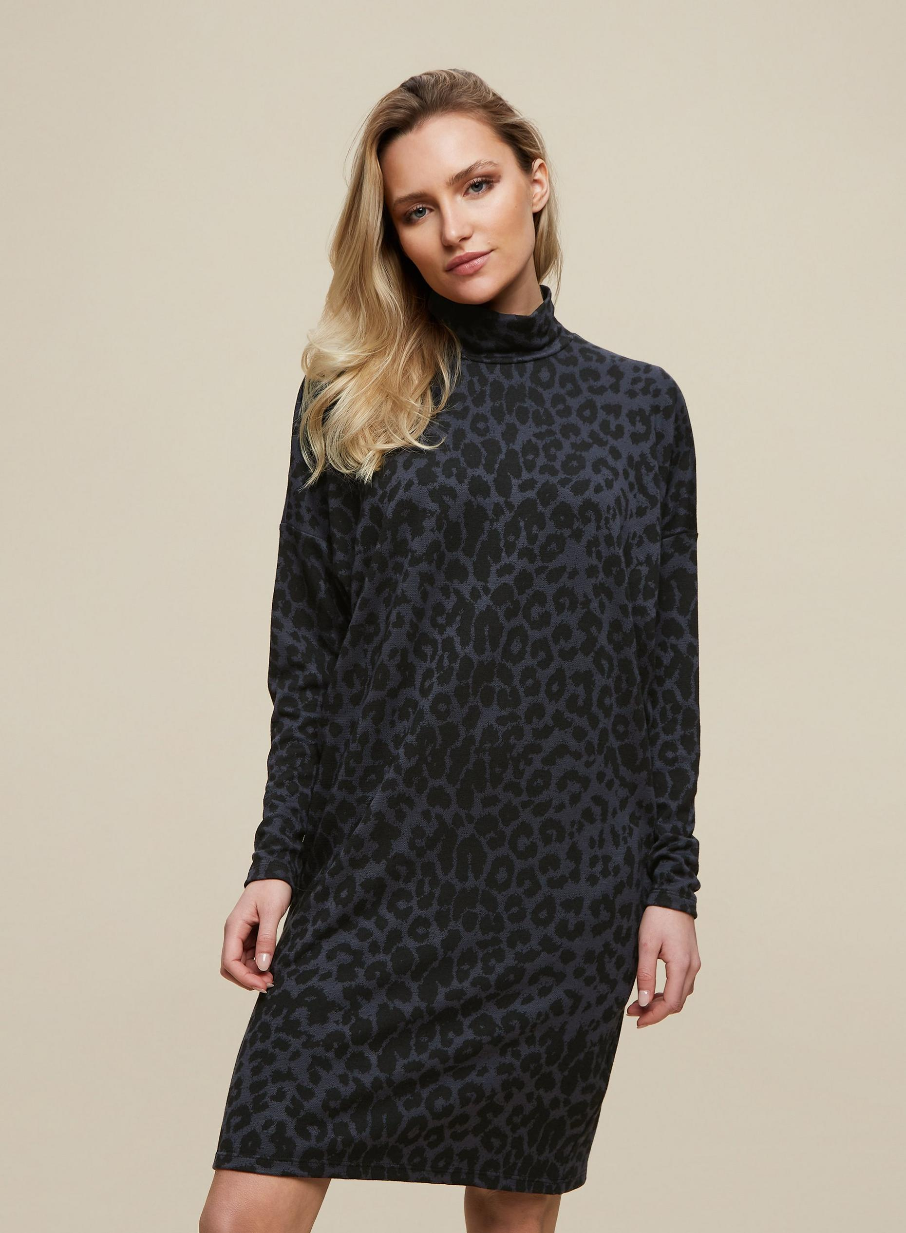 Multi Colour Leopard Print Shift Dress