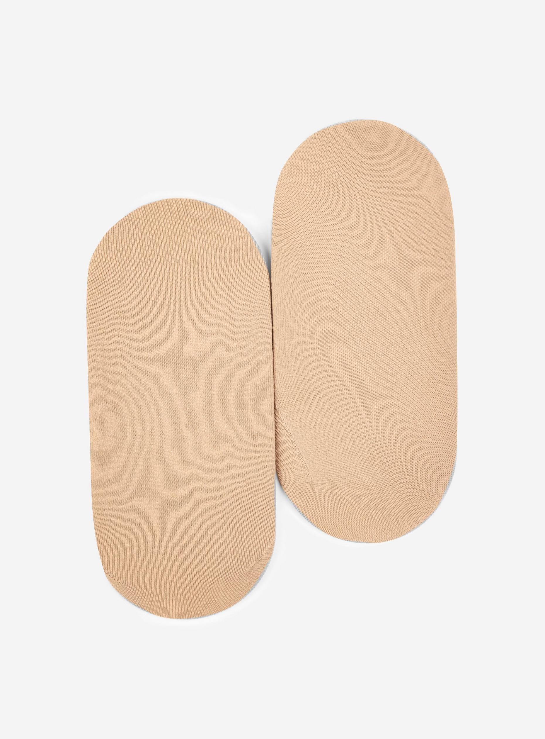 Two Pack Beige Sheer Footsies