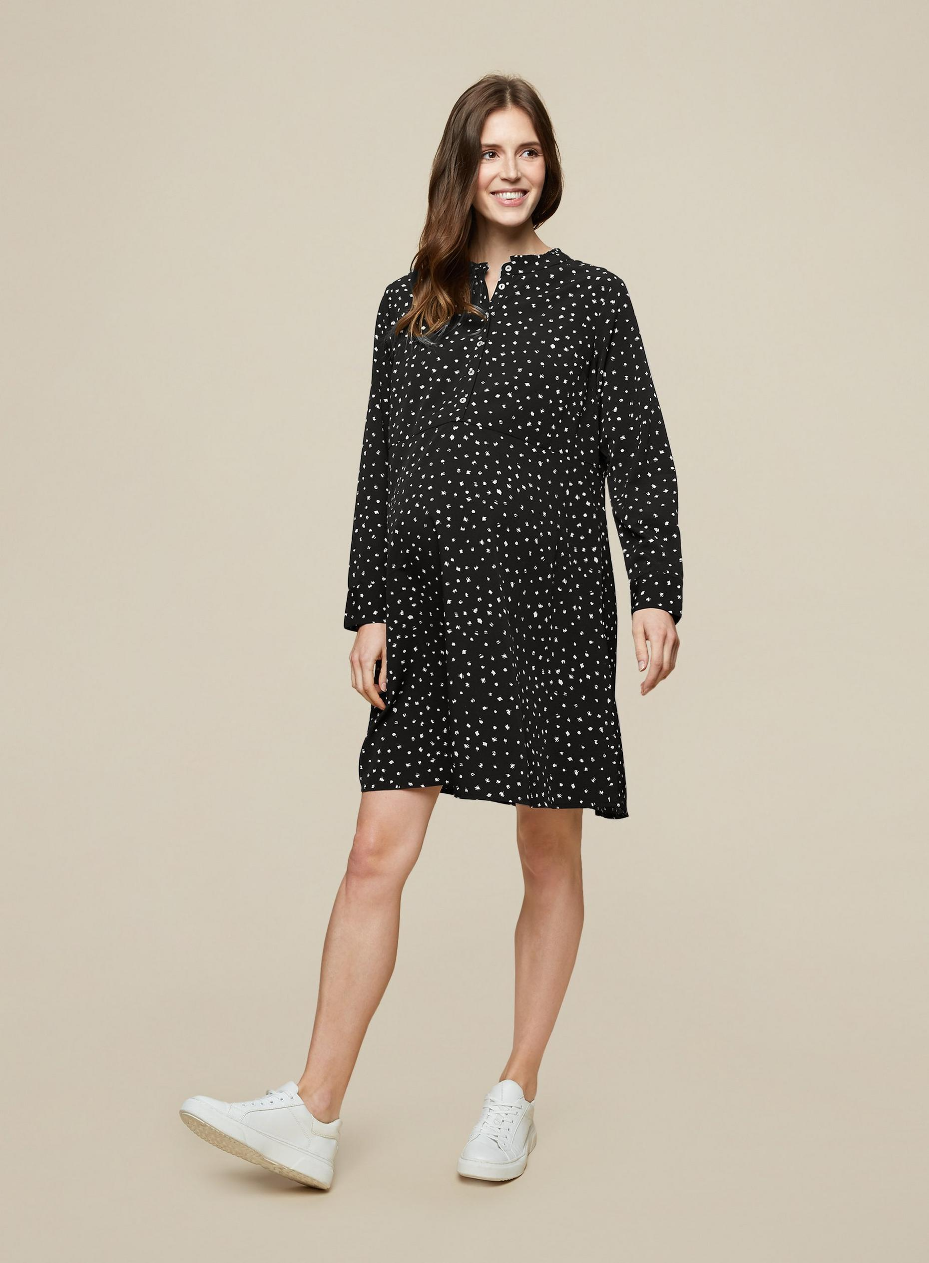 Maternity Spot Shirt Dress