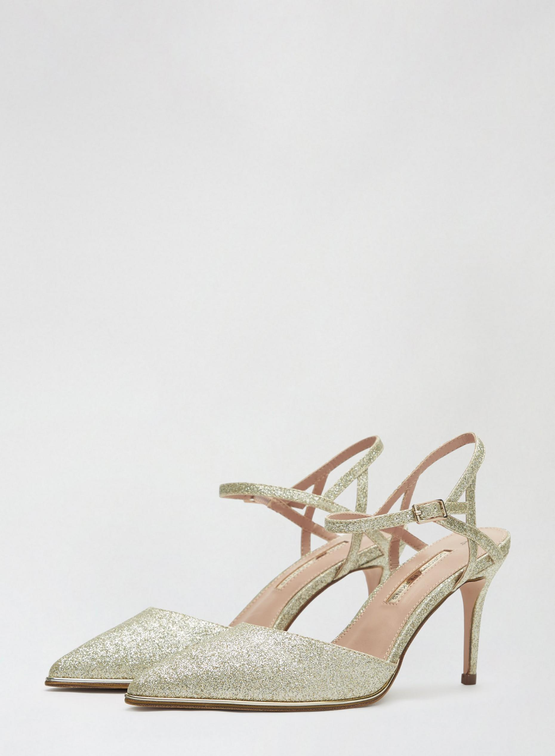 Gold Elfie Court Shoes