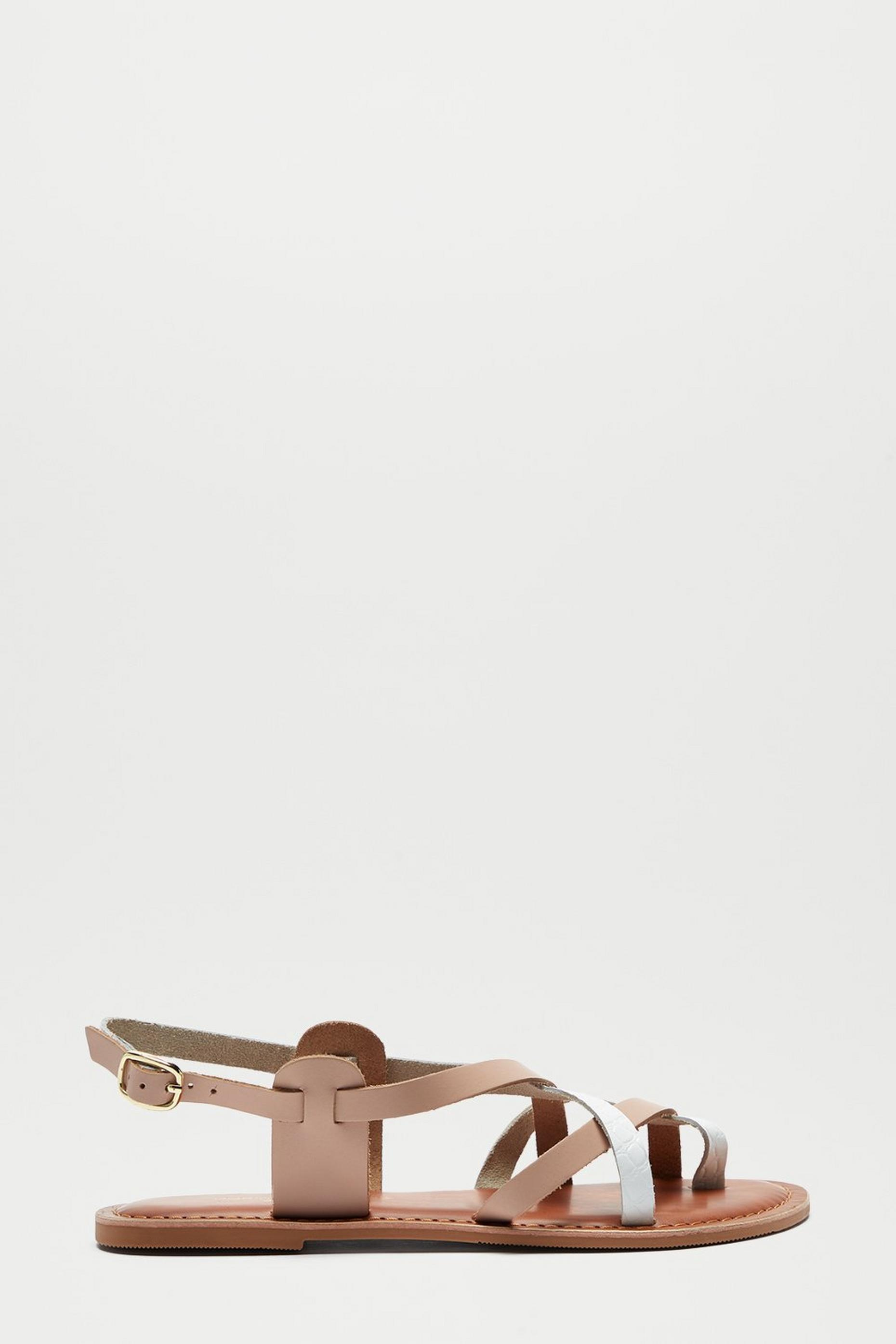 Wide Fit Leather Jamie Sandal