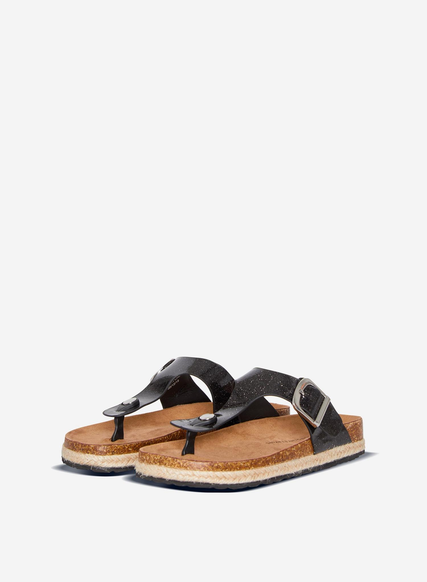 105 Black Fleetwood Toepost Sandals image number 1