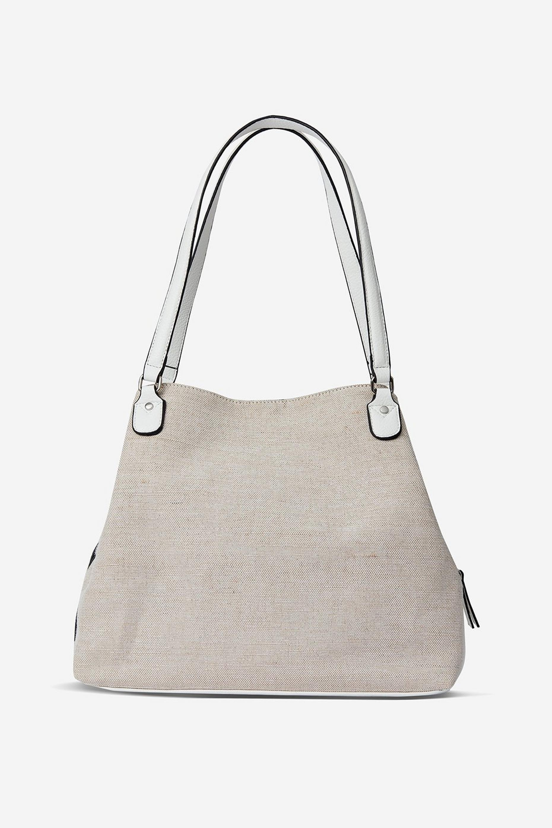 Neutral Panel Hobo Bag