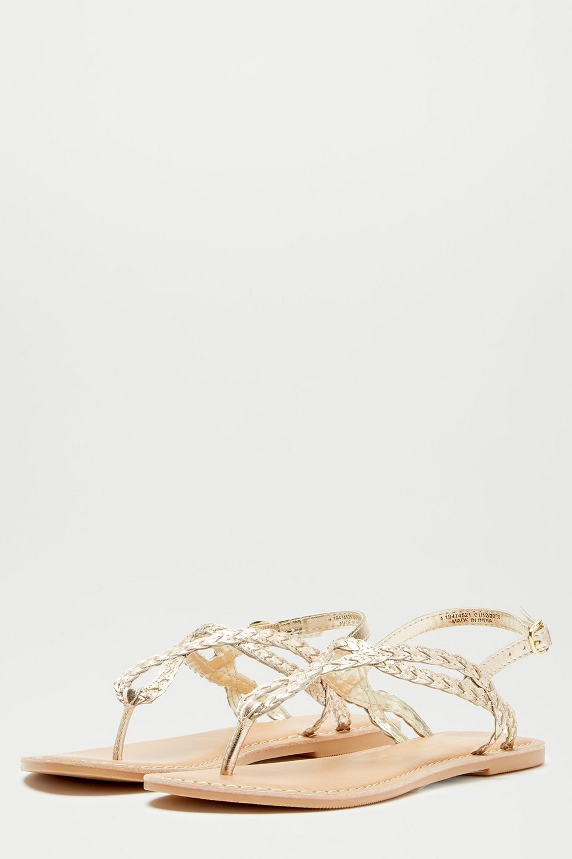Leather Gold Joey Sandals