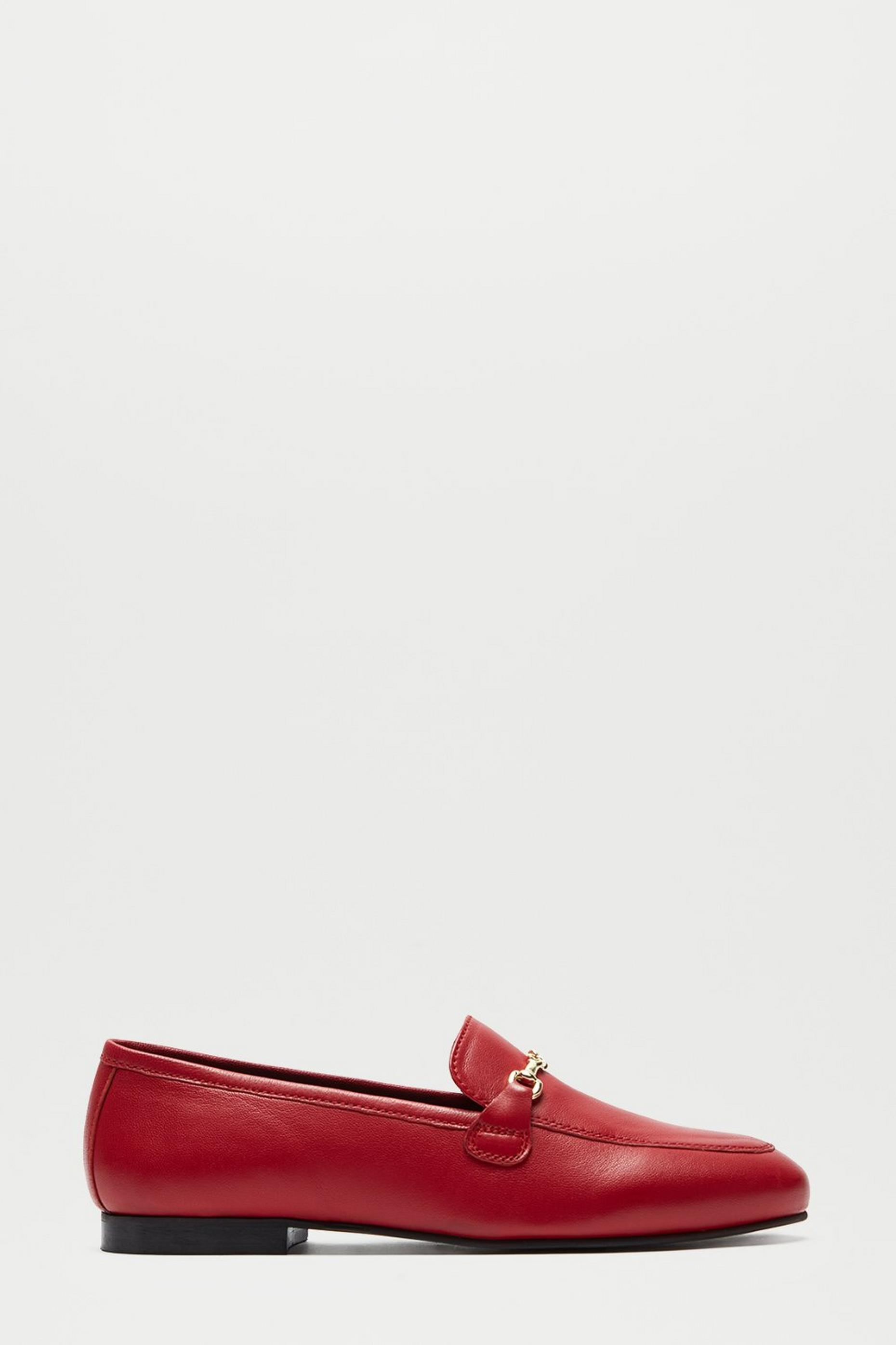 Leather Red Liza Loafer
