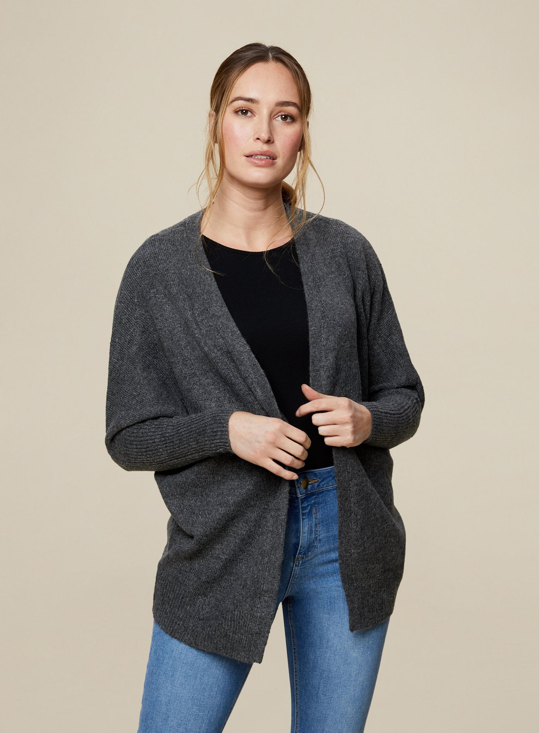Charcoal Edge to Edge Cardigan