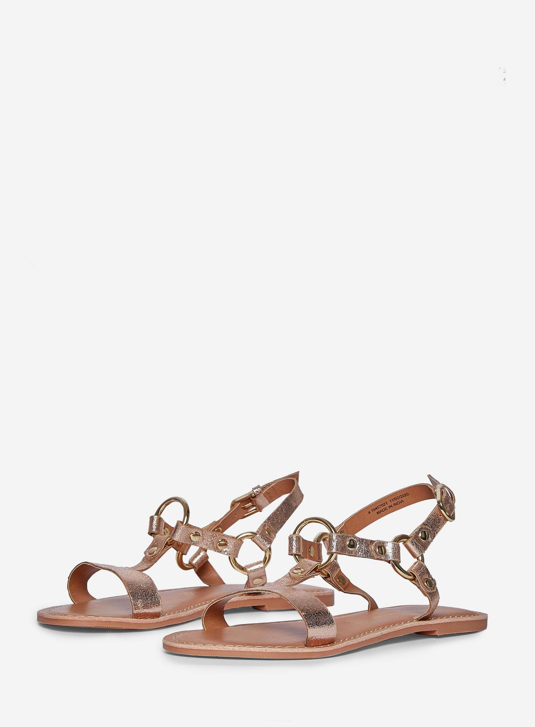 Rose Gold Jester Leather Sandals