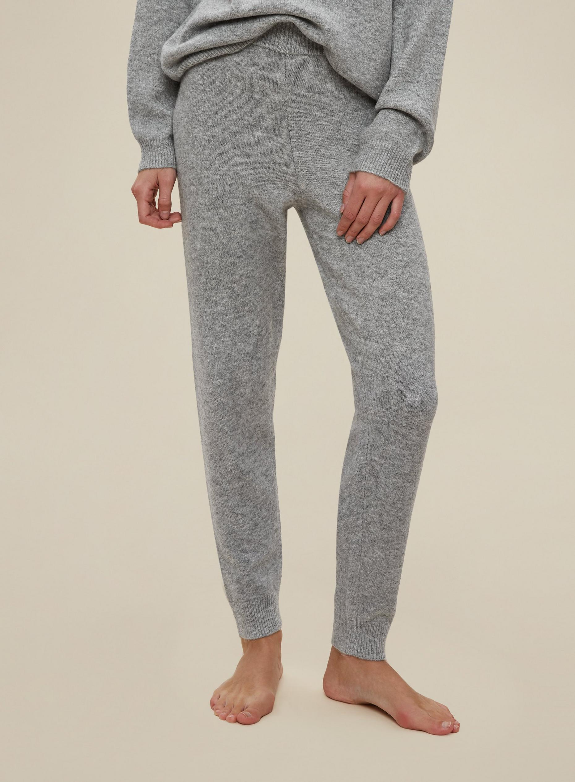 Grey Knitted Joggers