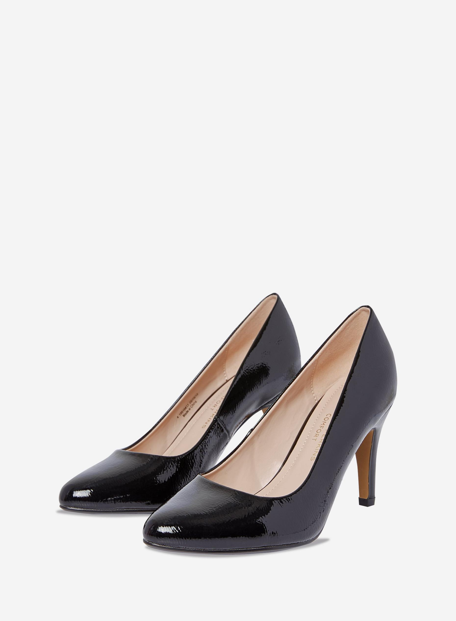Wide Fit Black Deedee Court Shoes