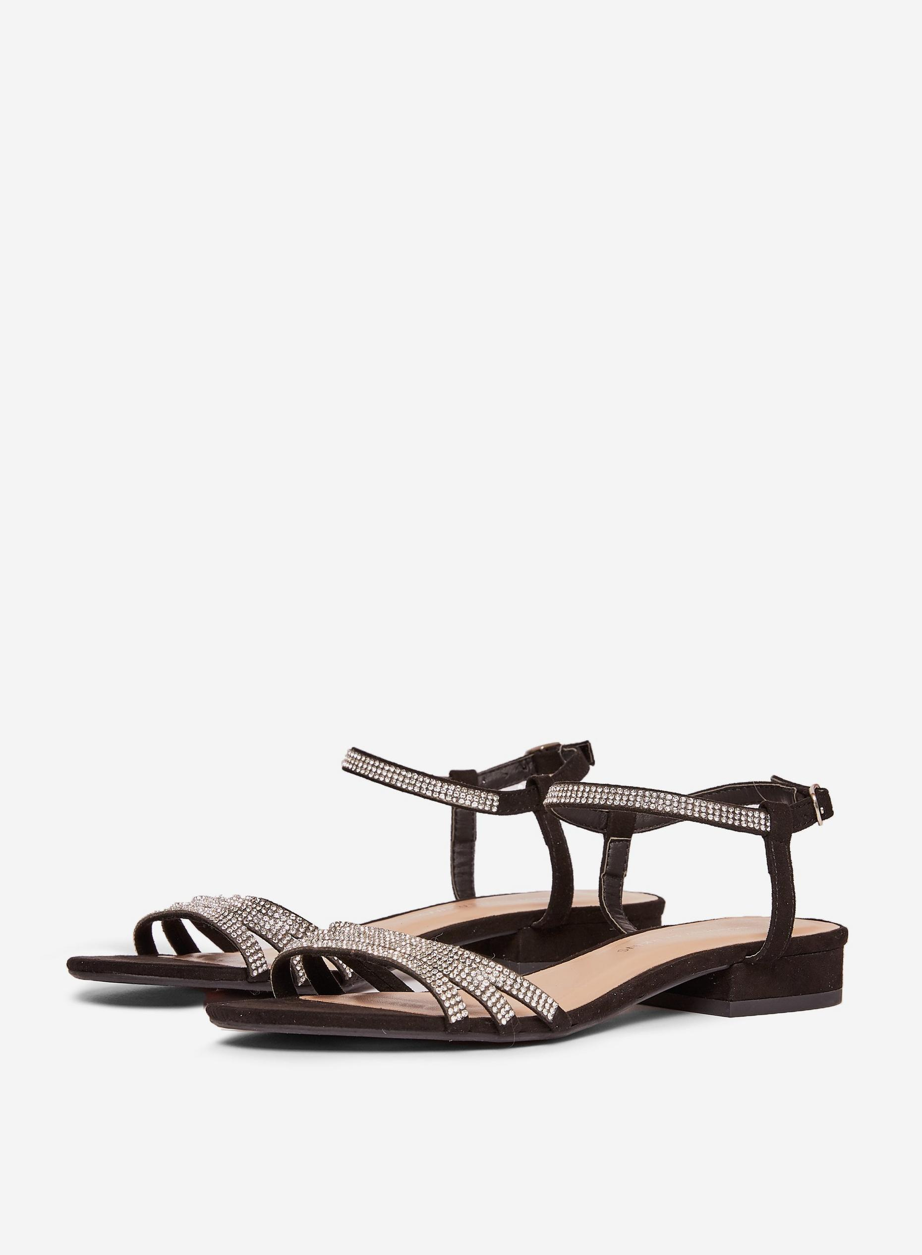 Black Soo Heeled Sandals