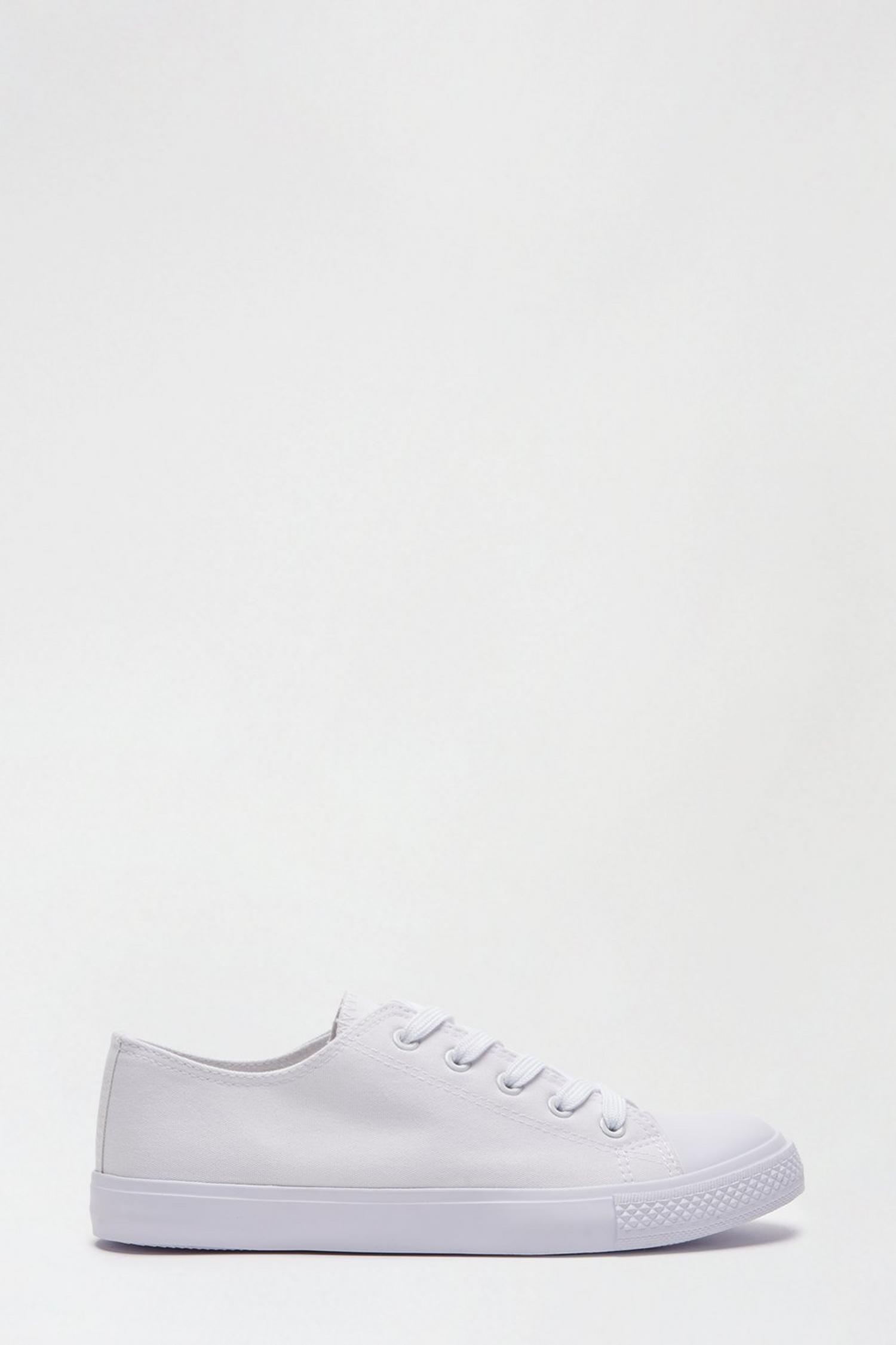 173 White Icon Canvas Trainers image number 1